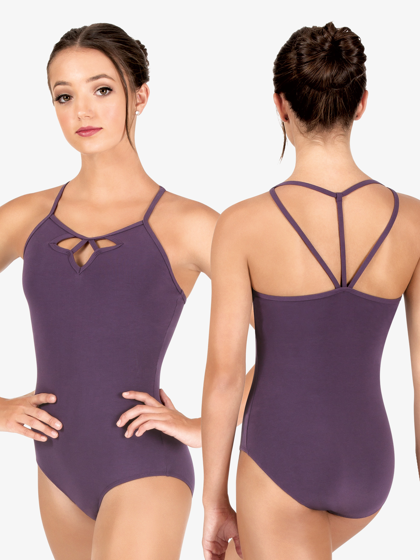 74a663f684b22e Studio Collection Womens Front Cutout Cotton Camisole Leotard - Style No  N9019x. Loading zoom