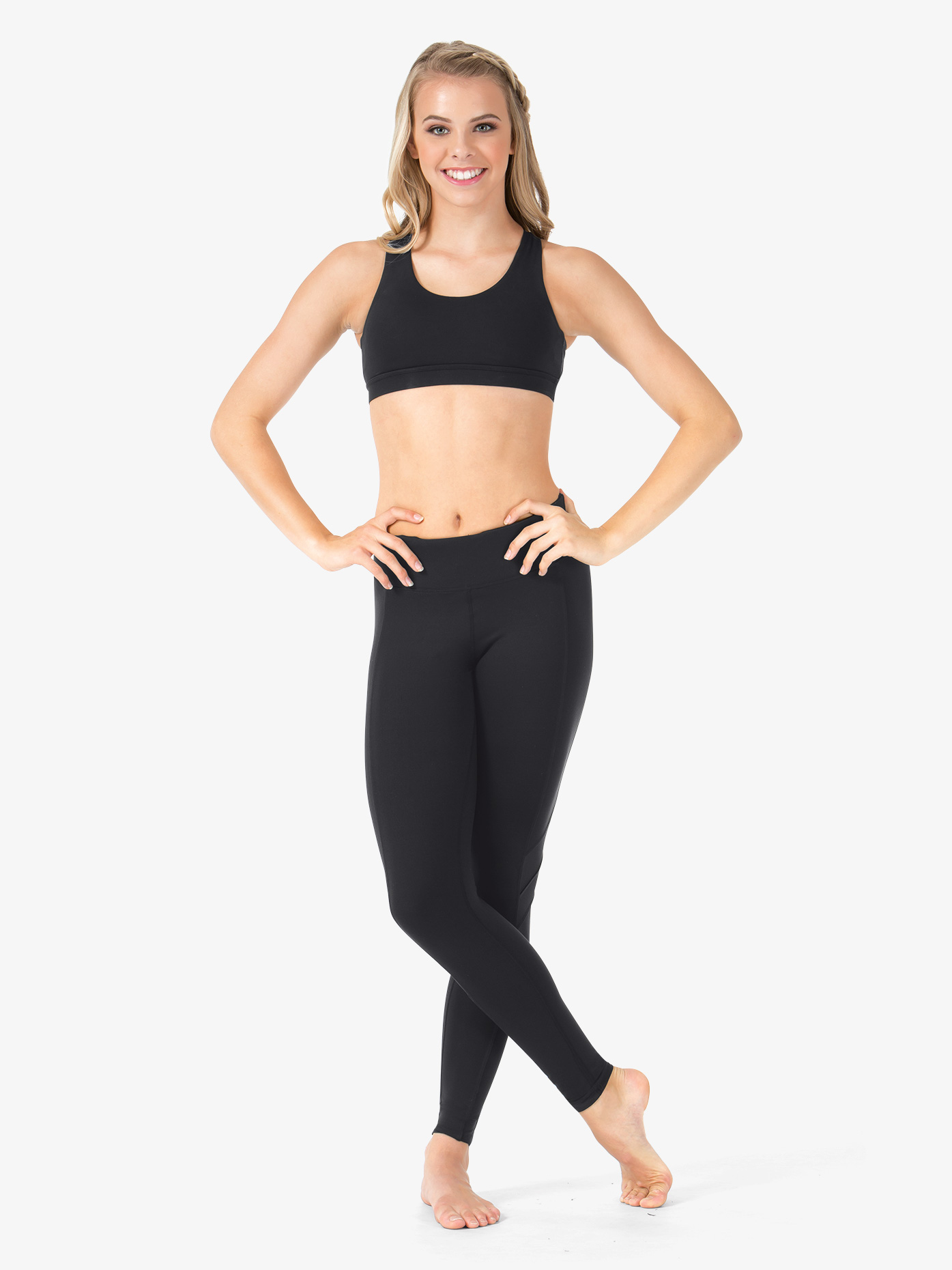 Natalie Active Adult Kimberly Mesh Insert Ankle Leggings NA126