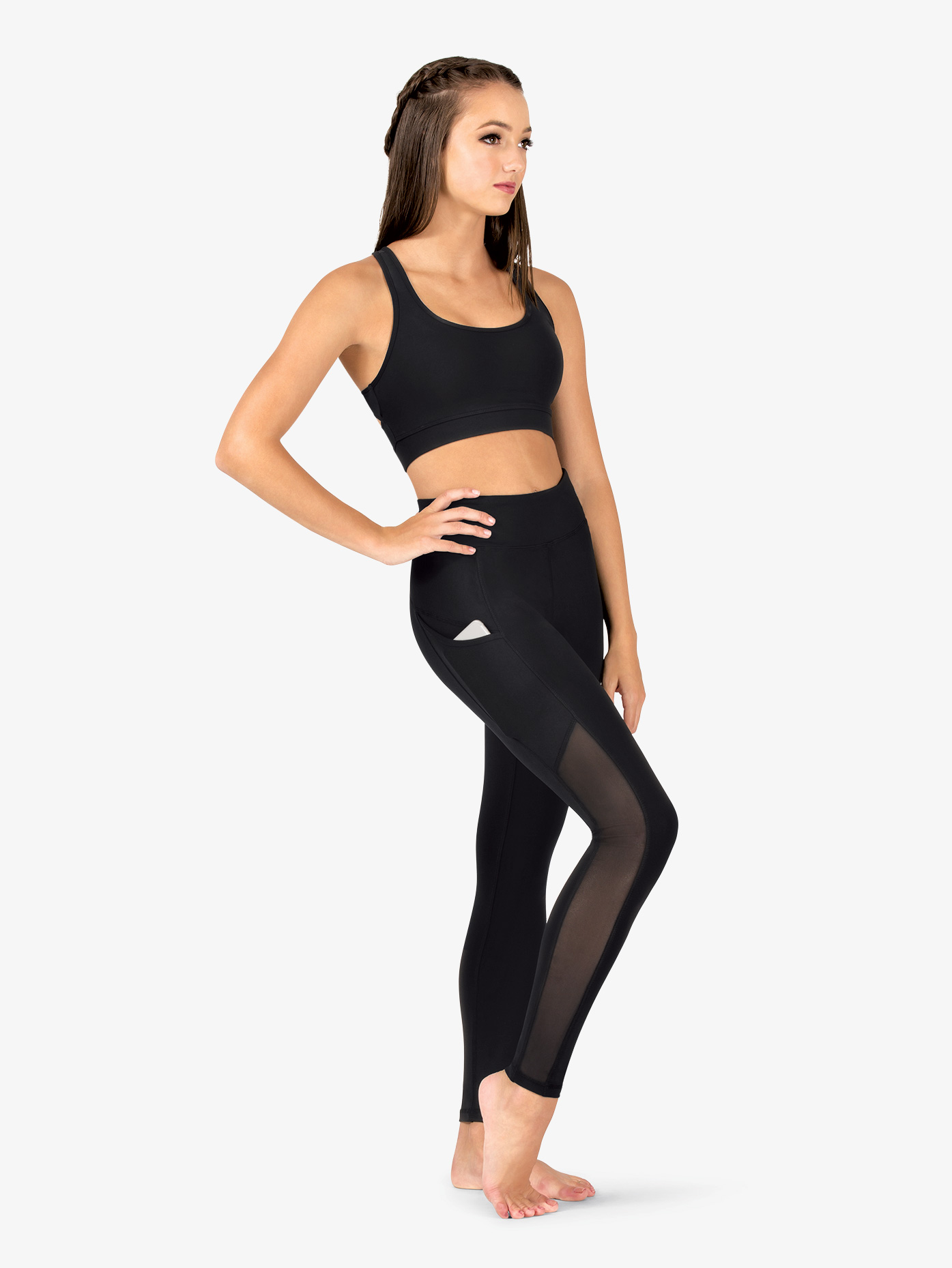Natalie Active Womens Mesh Side Panel Workout Leggings NA130