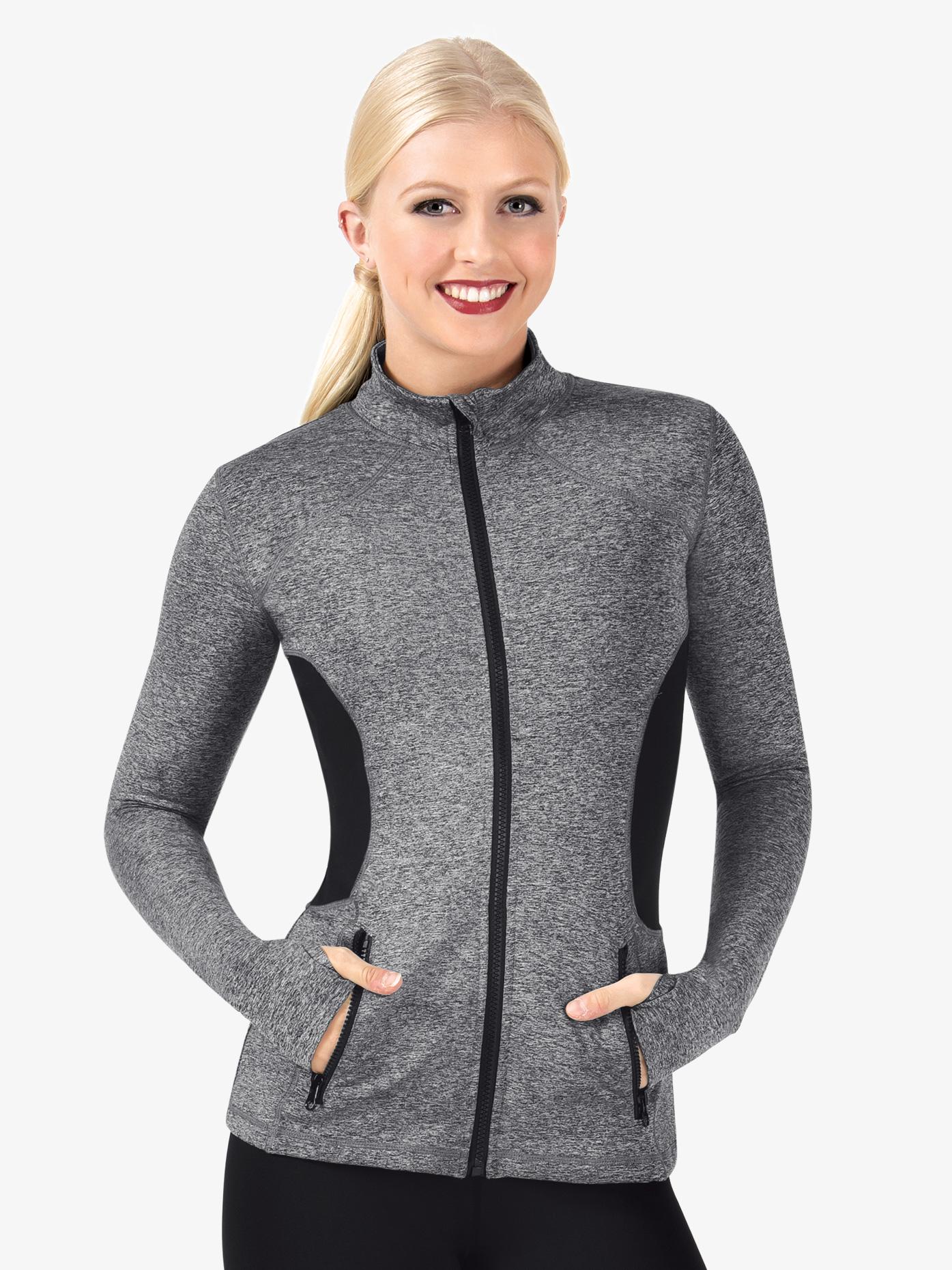 Natalie Active Womens Mock Neck Workout Jacket NA143