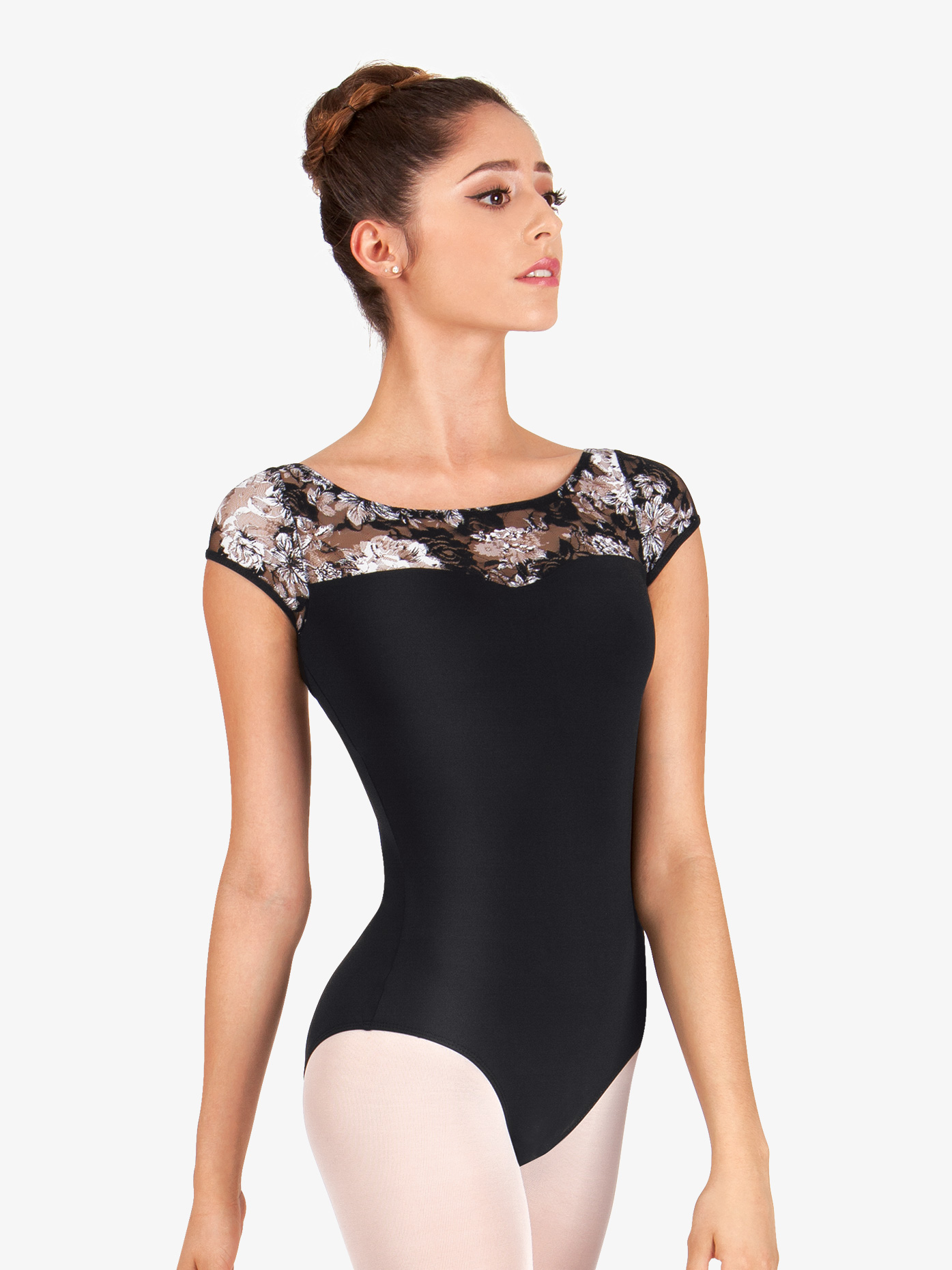 Ashley Bouder Adult Lace Sweetheart Cap Sleeve Leotard NAB117