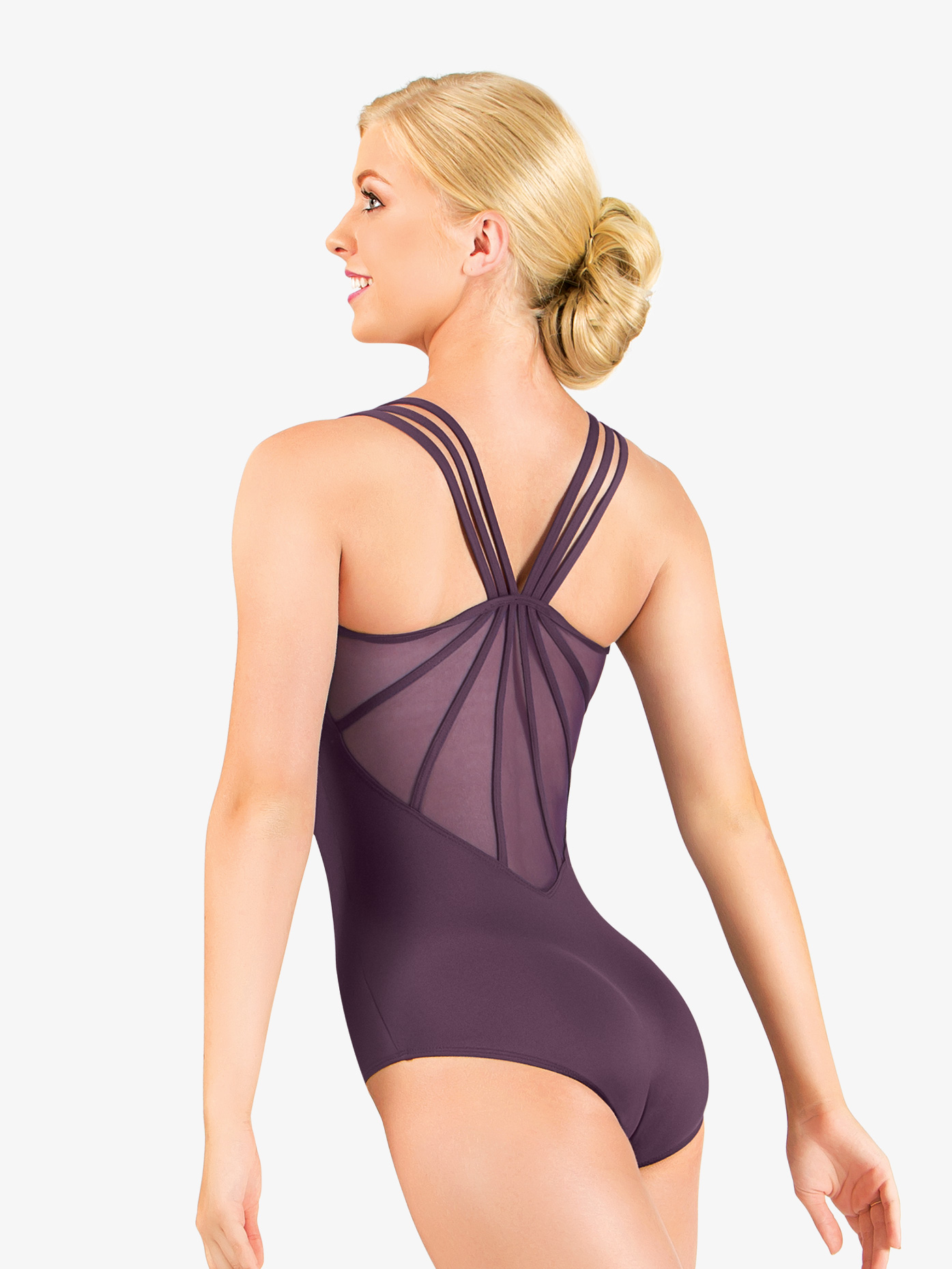 Natalie Couture Adult Microfiber Strappy Back Camisole Leotard NC8810