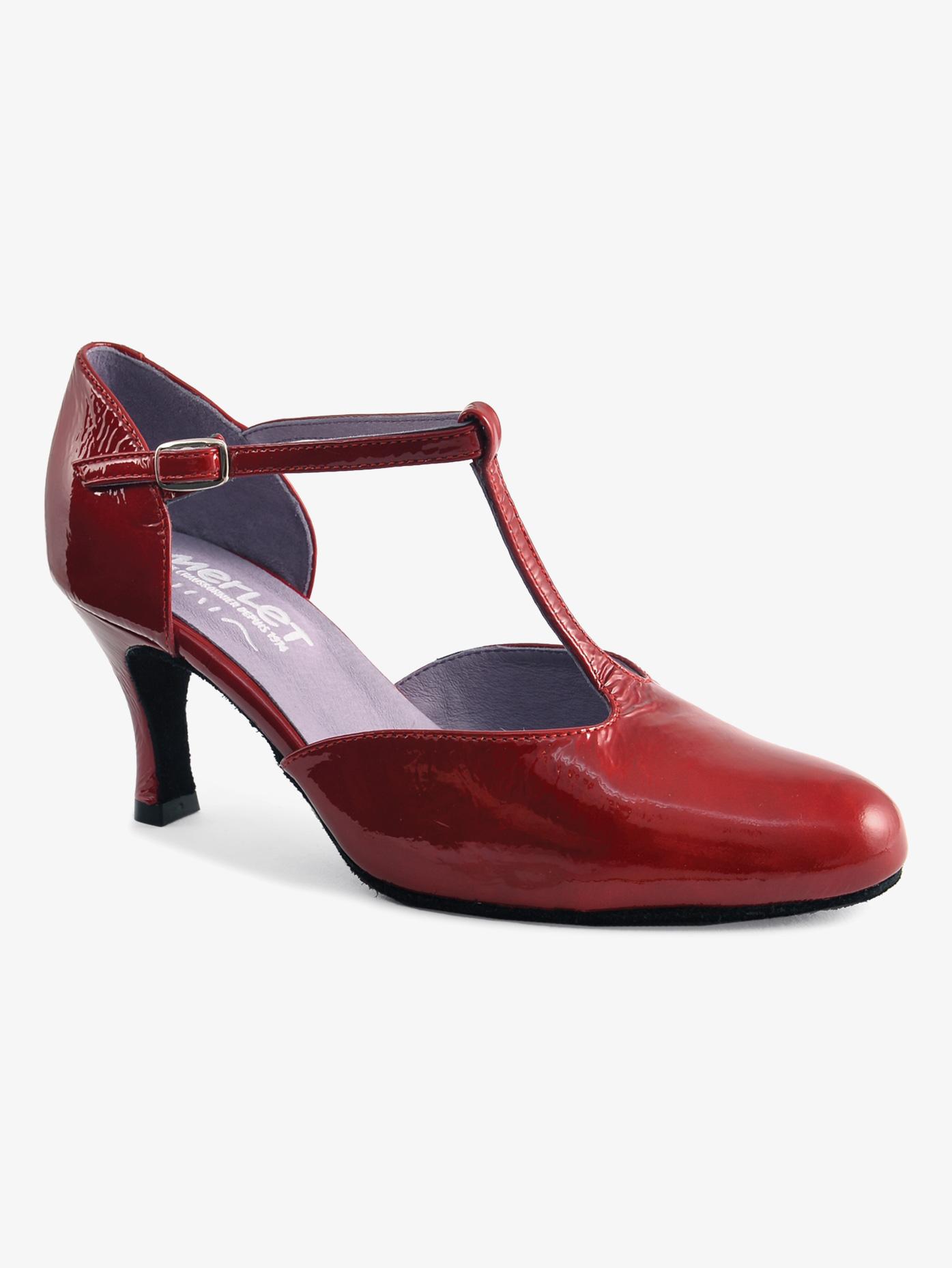 Merlet Womens Nina Patent Leather Ballroom Shoes NINA
