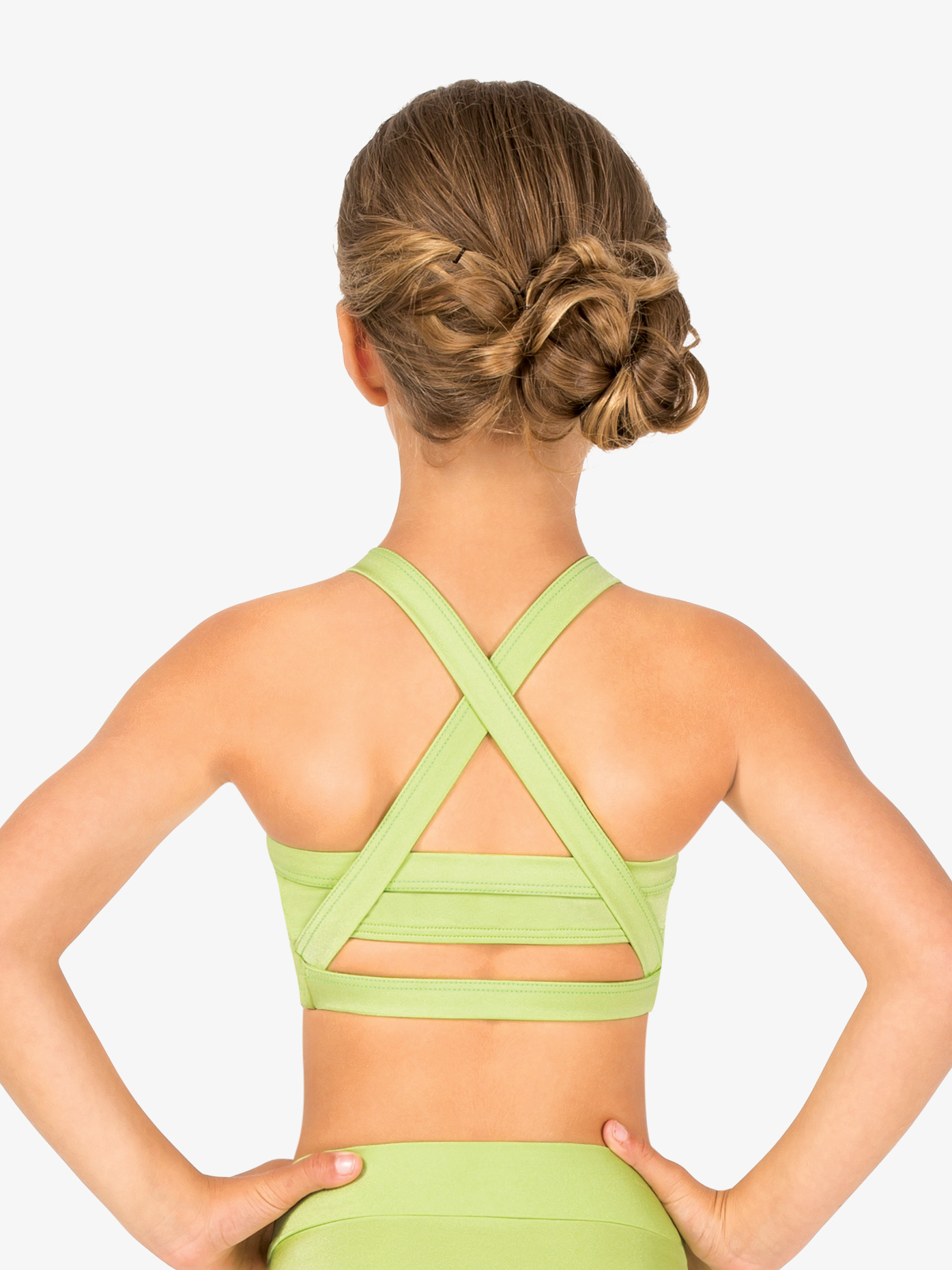 Body Wrappers Child Sweetheart Halter Dance Bra Top NL1009