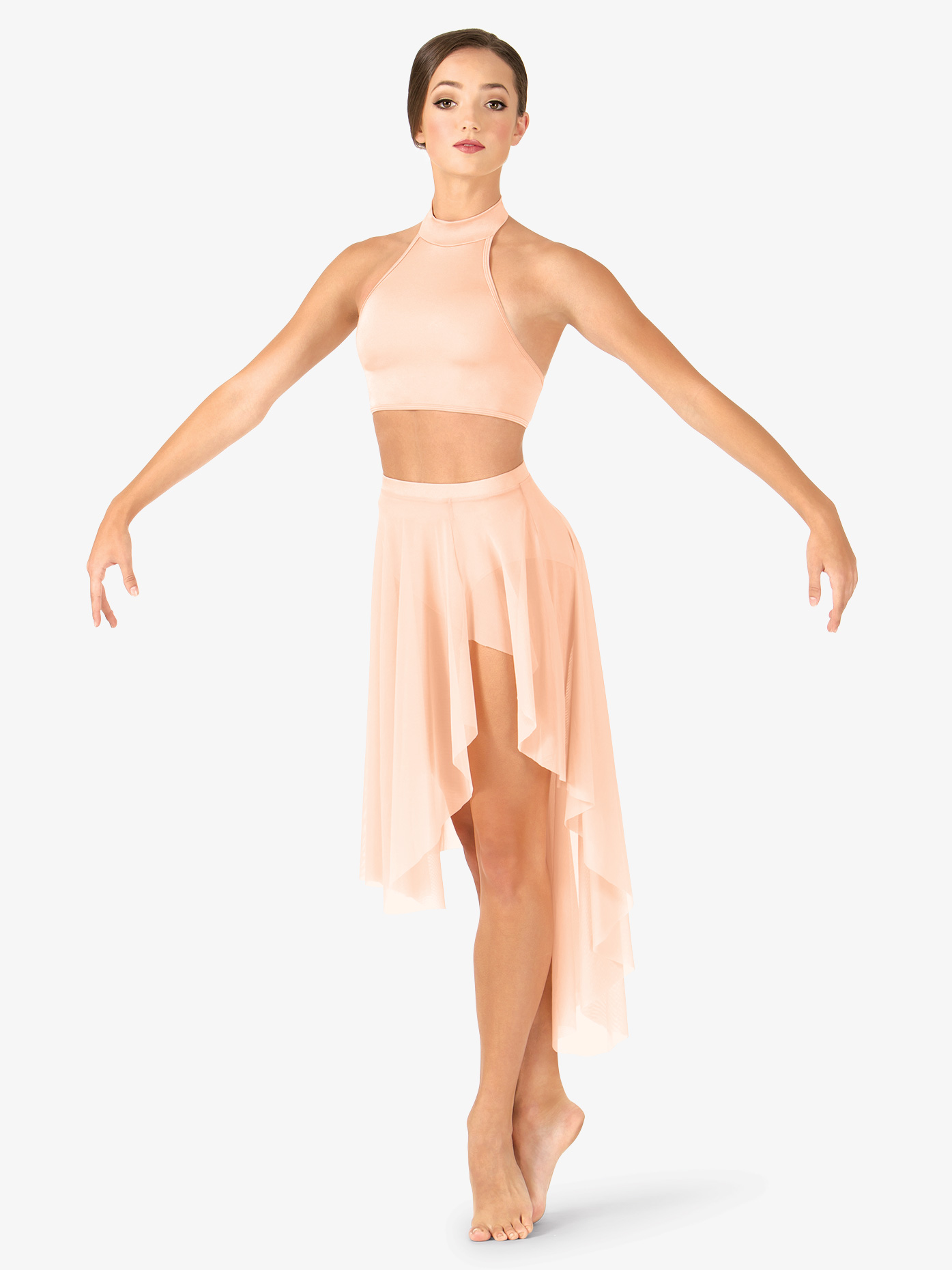 Body Wrappers Adult Asymmetrical Dance Skirt NL9110