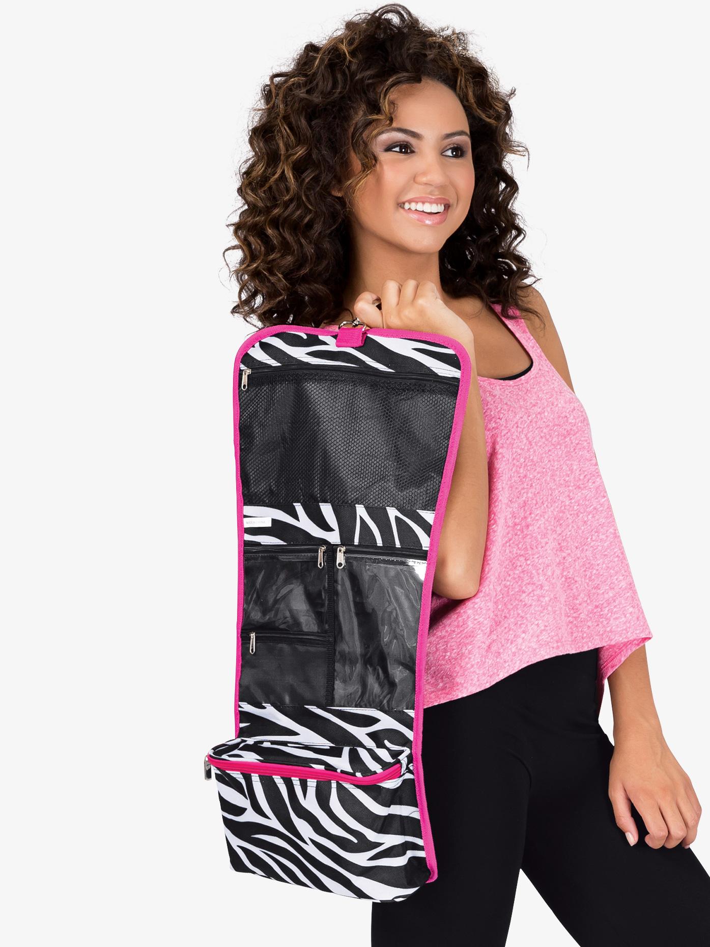 Discount Dance Supply Zebra Print Cosmetic Hanging Bag NZ3424