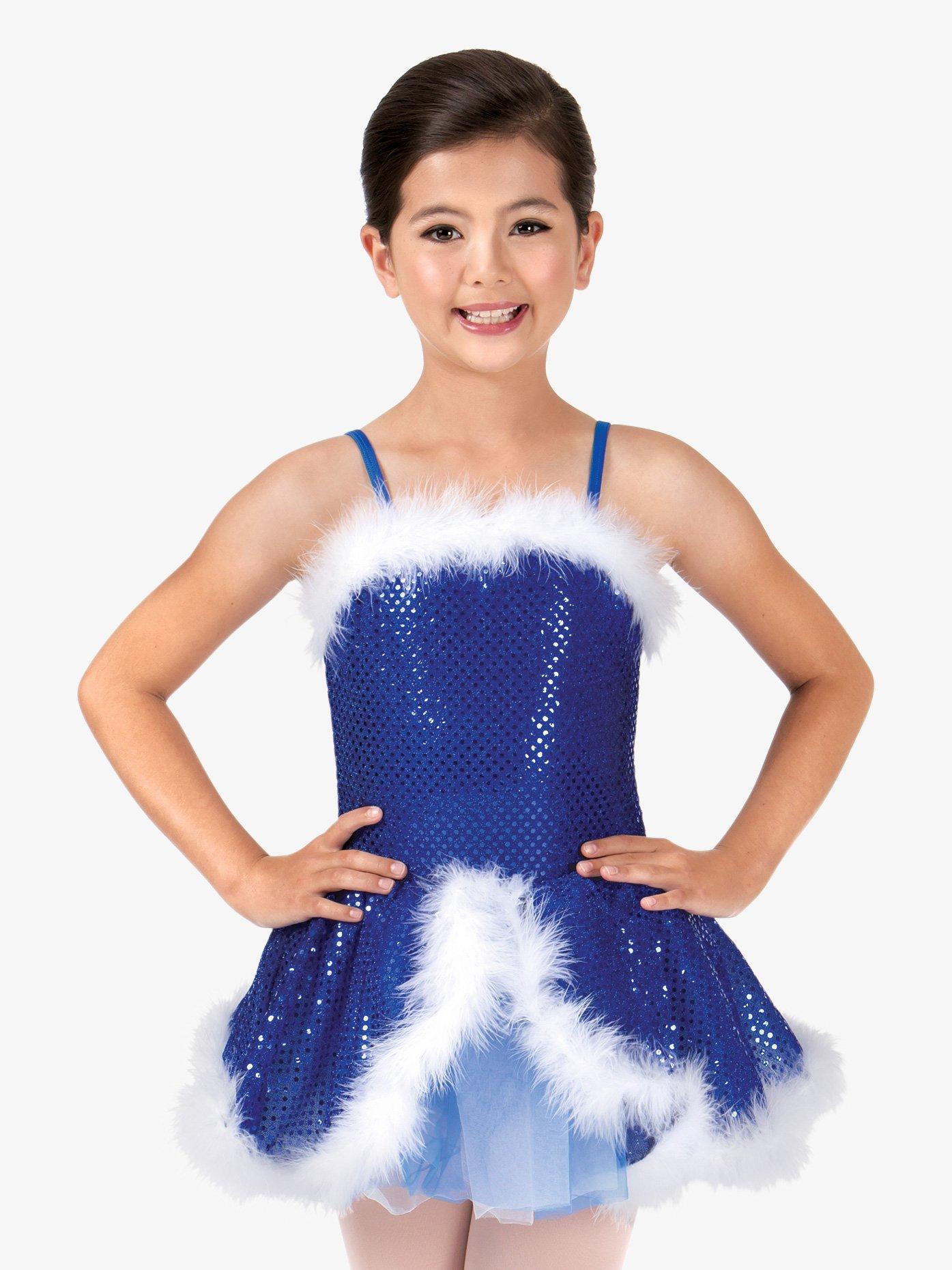 La Petite Ballerina Child Feather-Trimmed Sequin Camisole Costume Dress PB2000C