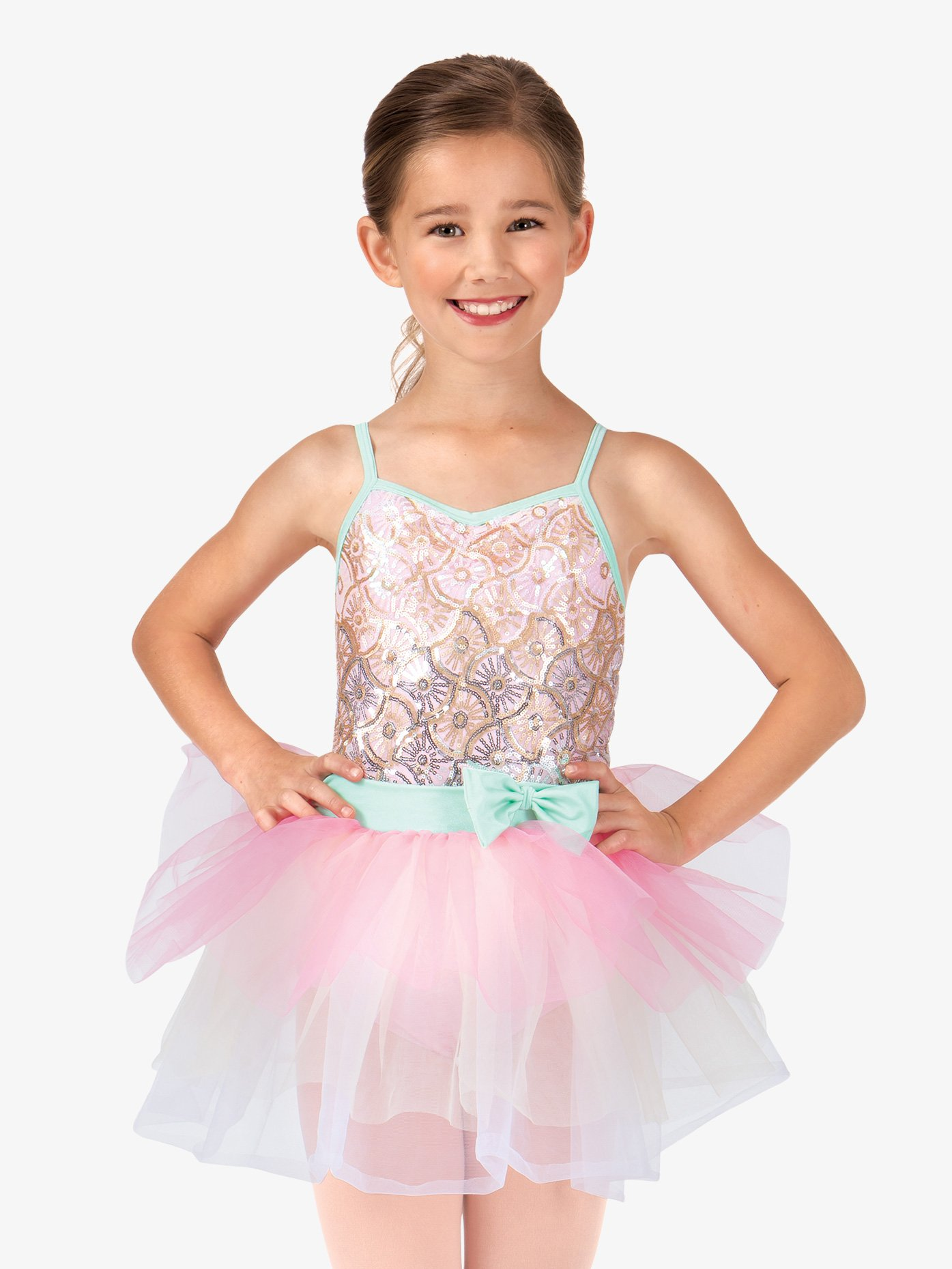 La Petite Ballerina Child Sequin Starburst Camisole Tutu Costume Dress PB2002C