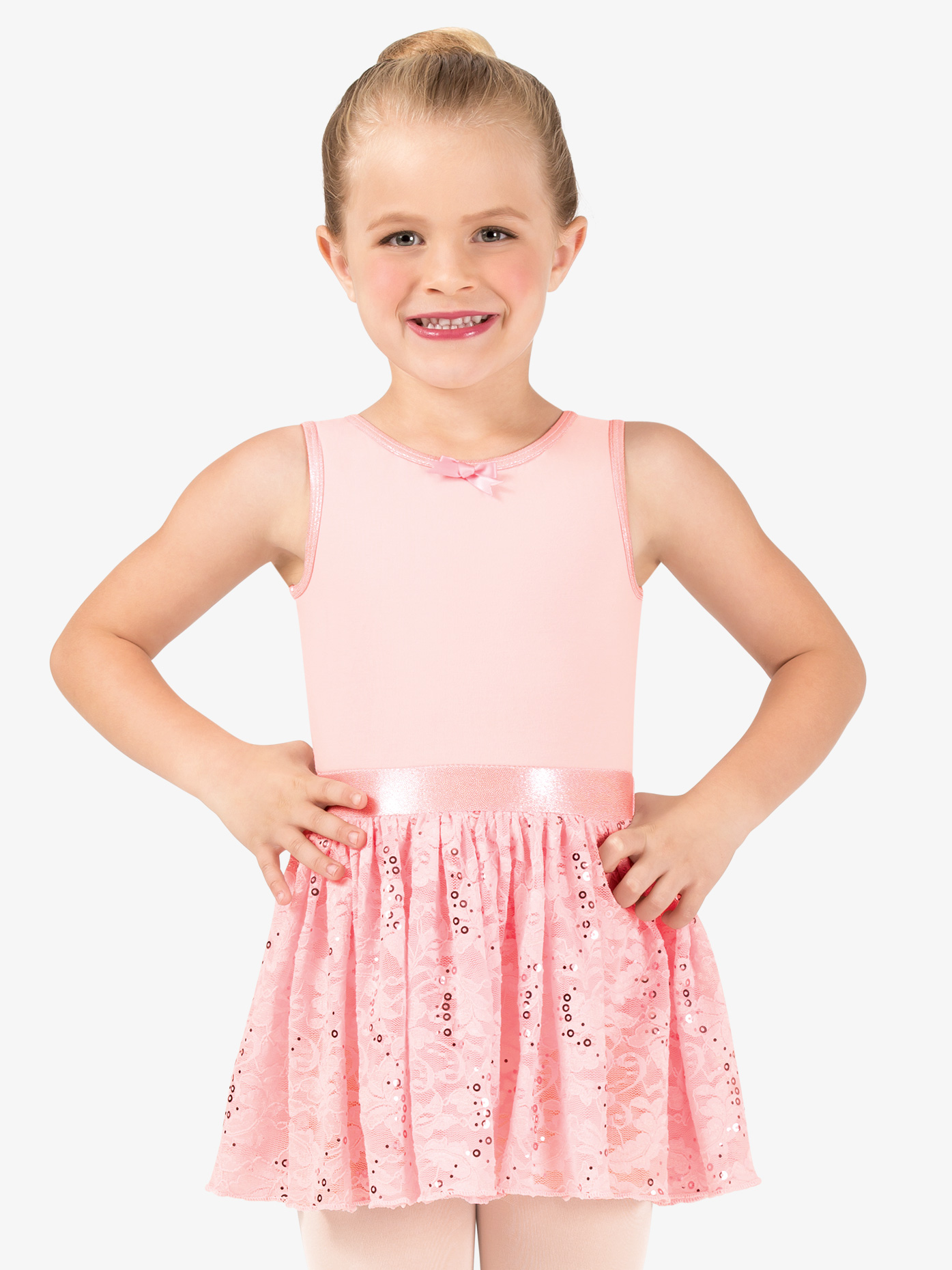 La Petite Ballerina Girls Sequin Lace Tank Ballet Dress PB2033C