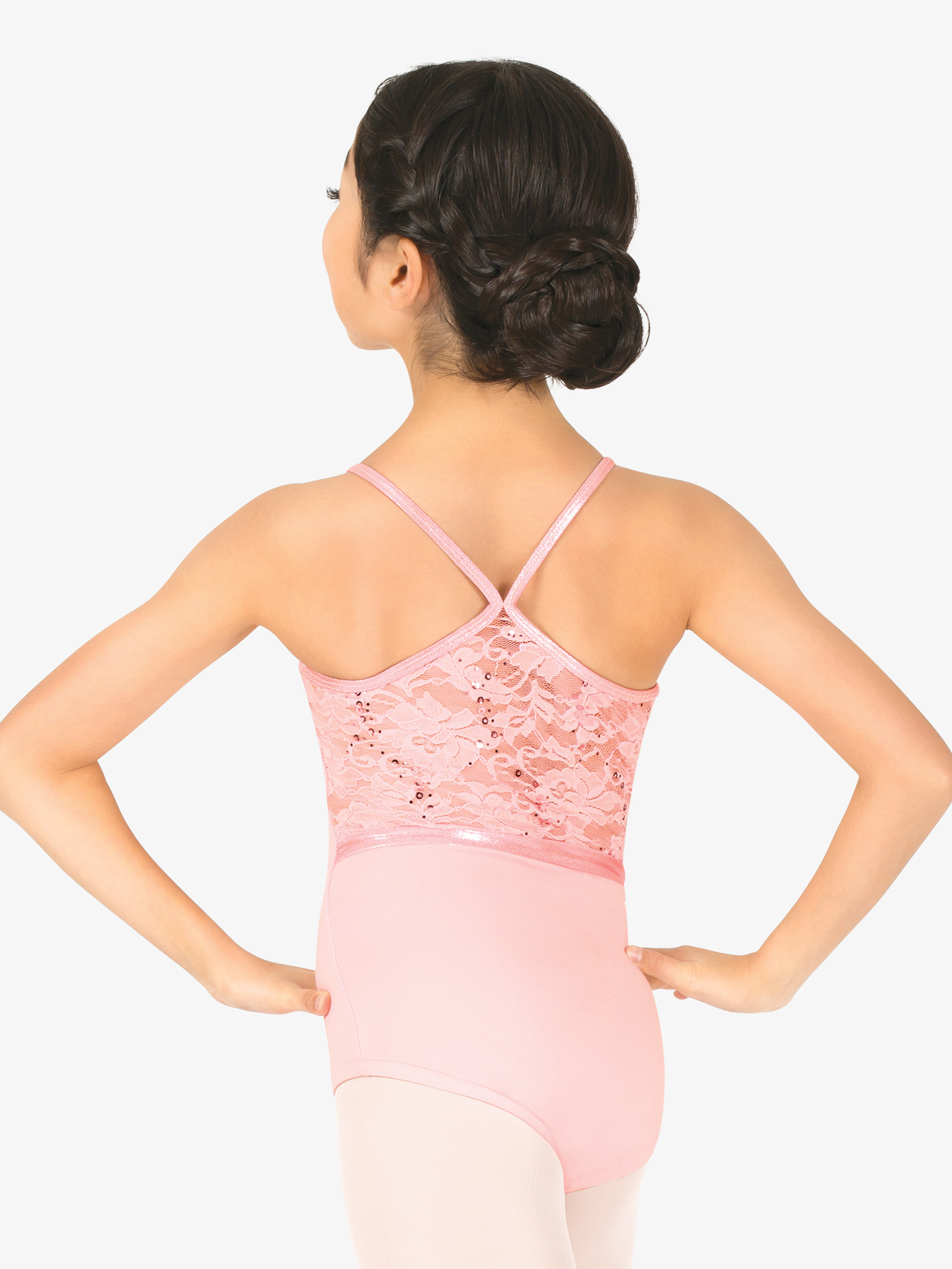 La Petite Ballerina Girls Sequin Lace Camisole Leotard PB2035C
