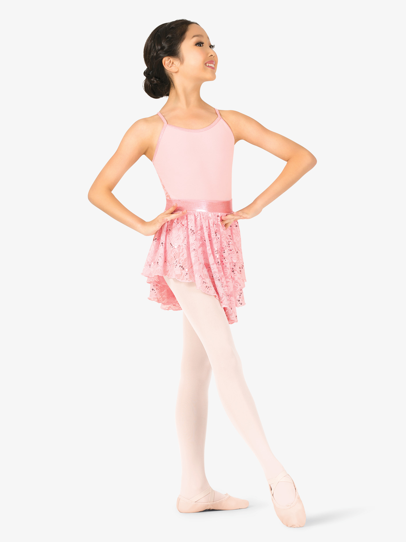 La Petite Ballerina Girls Sequin Lace Pull-On Ballet Skirt PB2036C