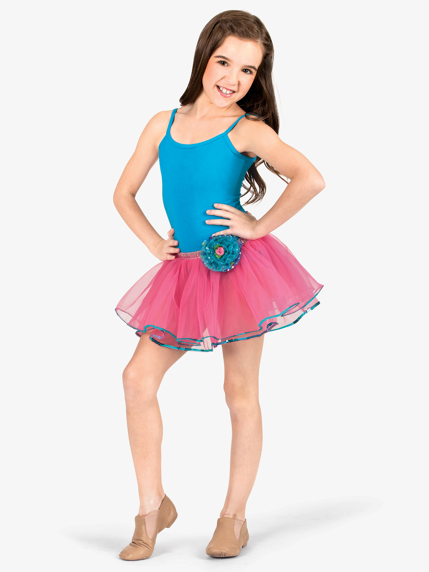 La Petite Ballerina Child Rose Tutu Skirt PC025