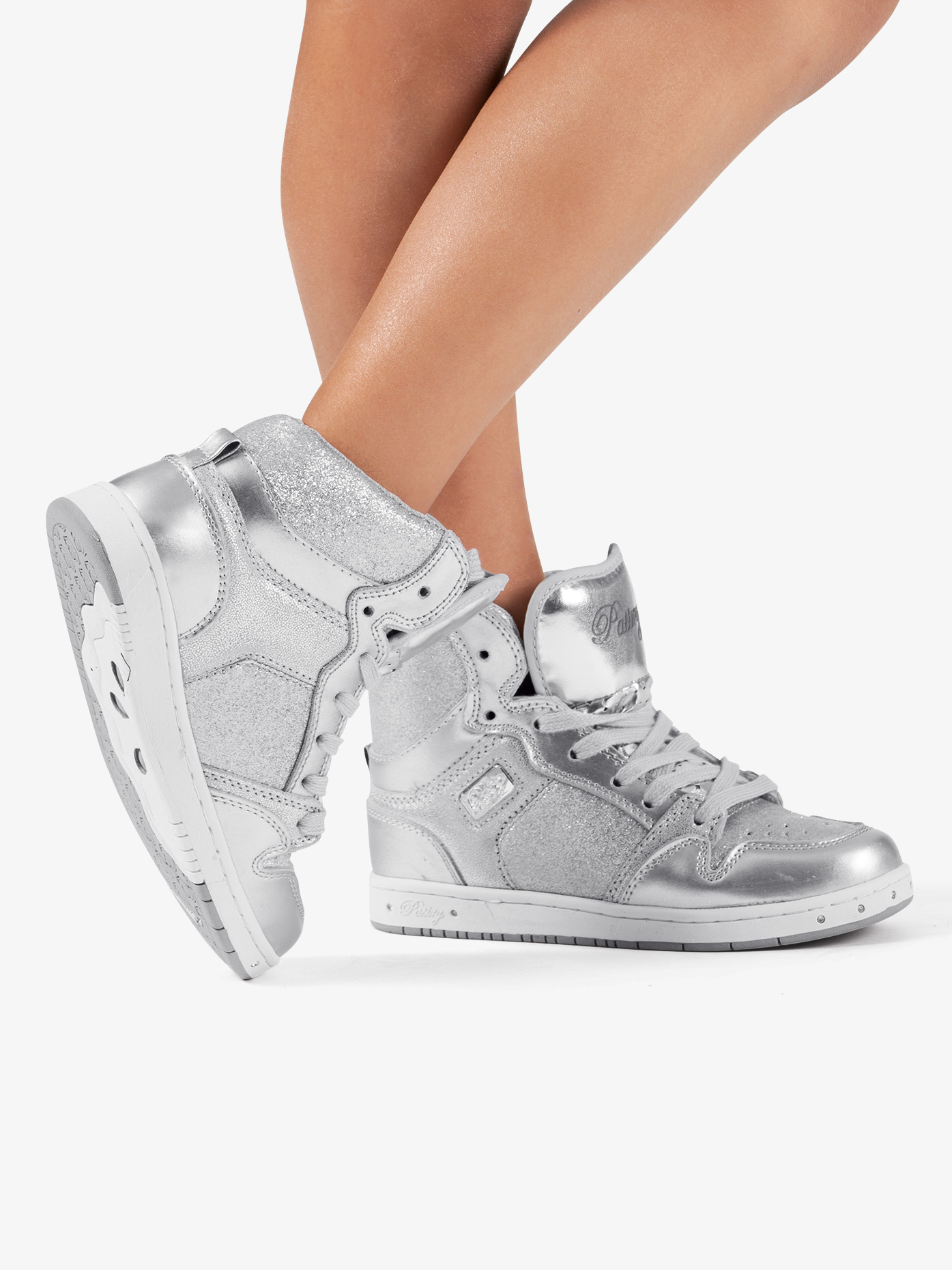 Pastry Kids Glam Pie Glitter Silver Sneakers PK143302