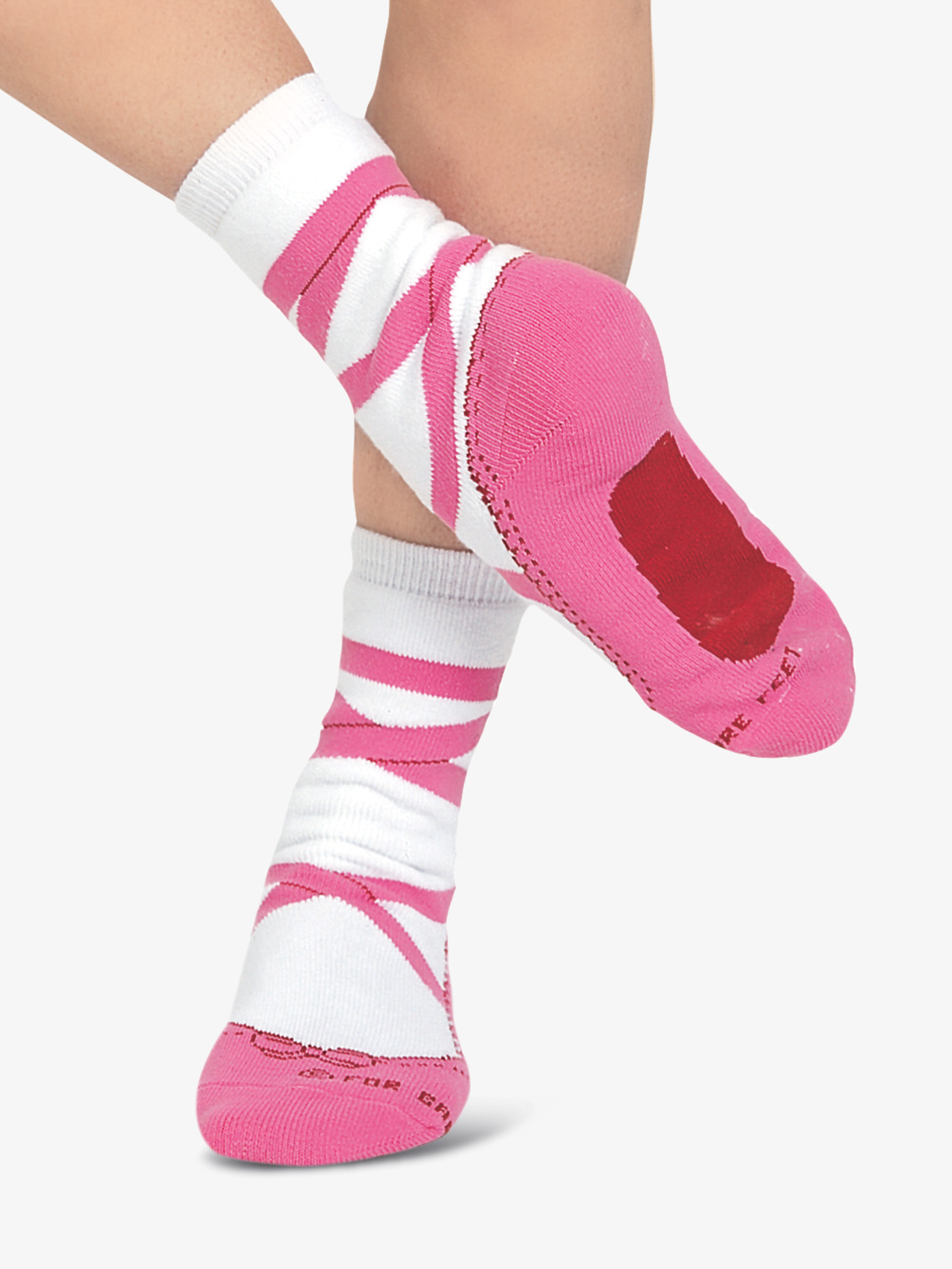 For Bare Feet Adult Pointe Shoe Socks PS503