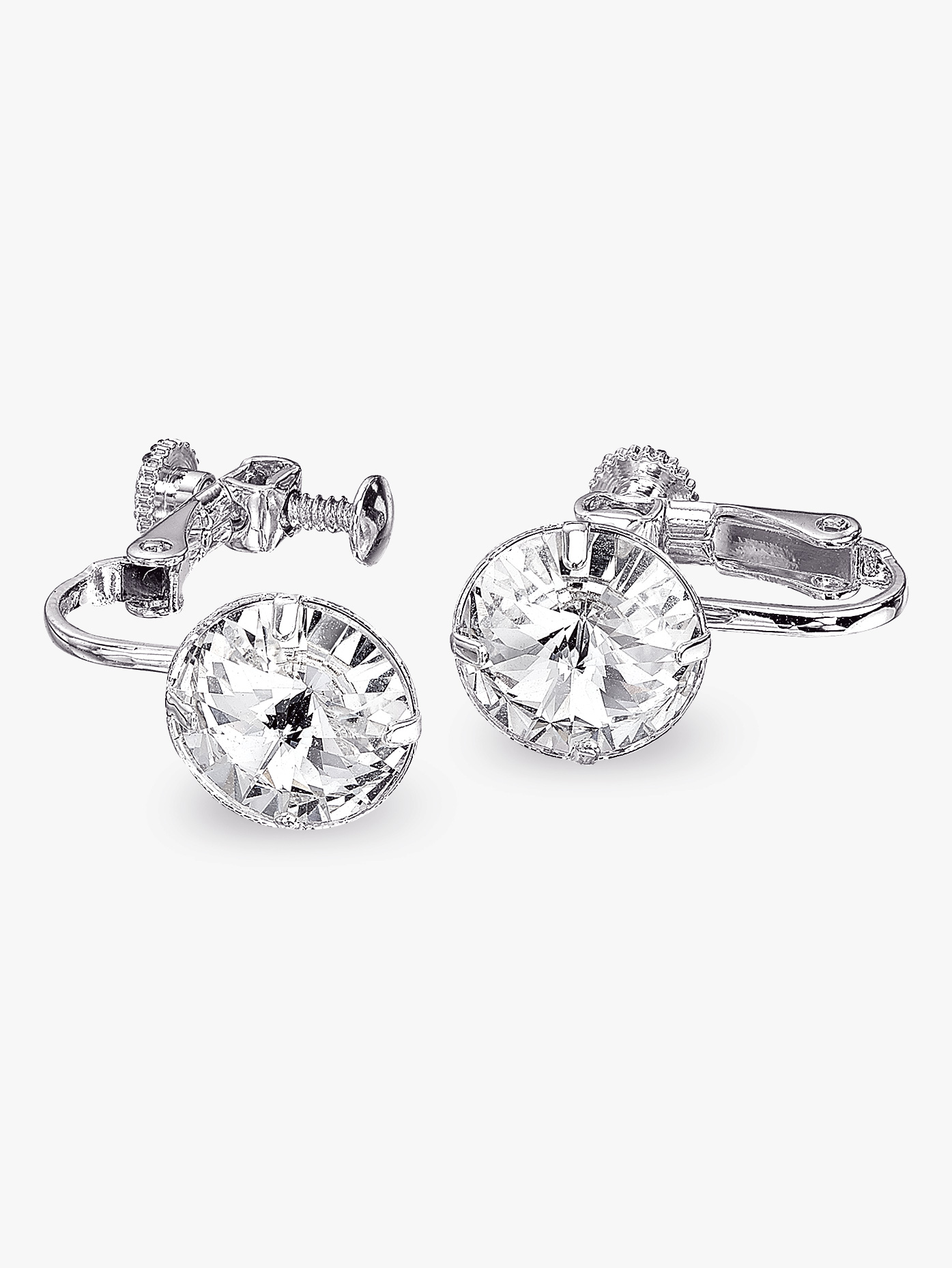 Go Girl 10mm Solitaire Clip-On Earrings REC10