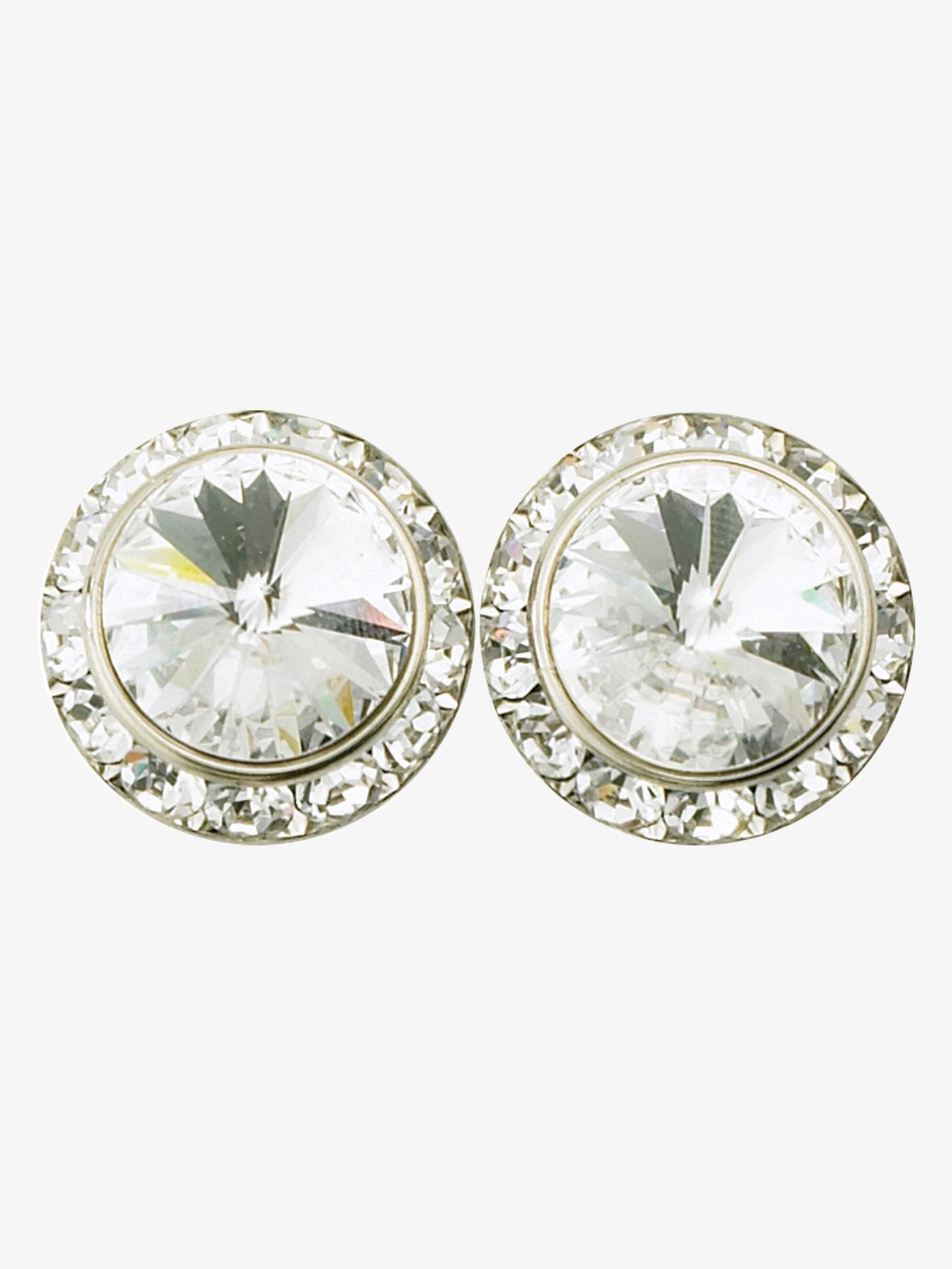 Rhinestones Unlimited 15mm Clip-On Crystal Earrings RU058