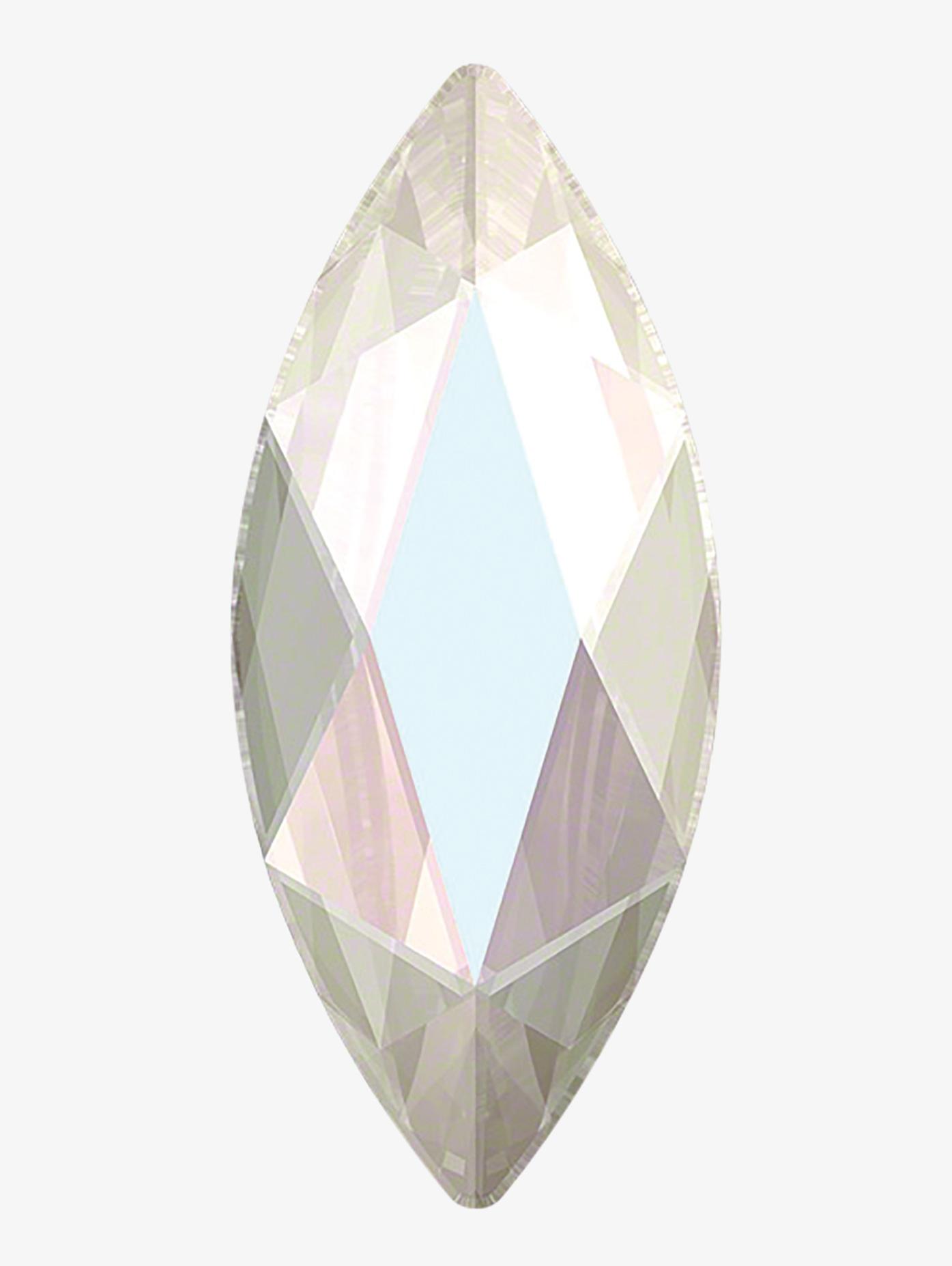 Rhinestones Unlimited Swarovski Crystal AB Marquise Jewel Cut Flatback RU068