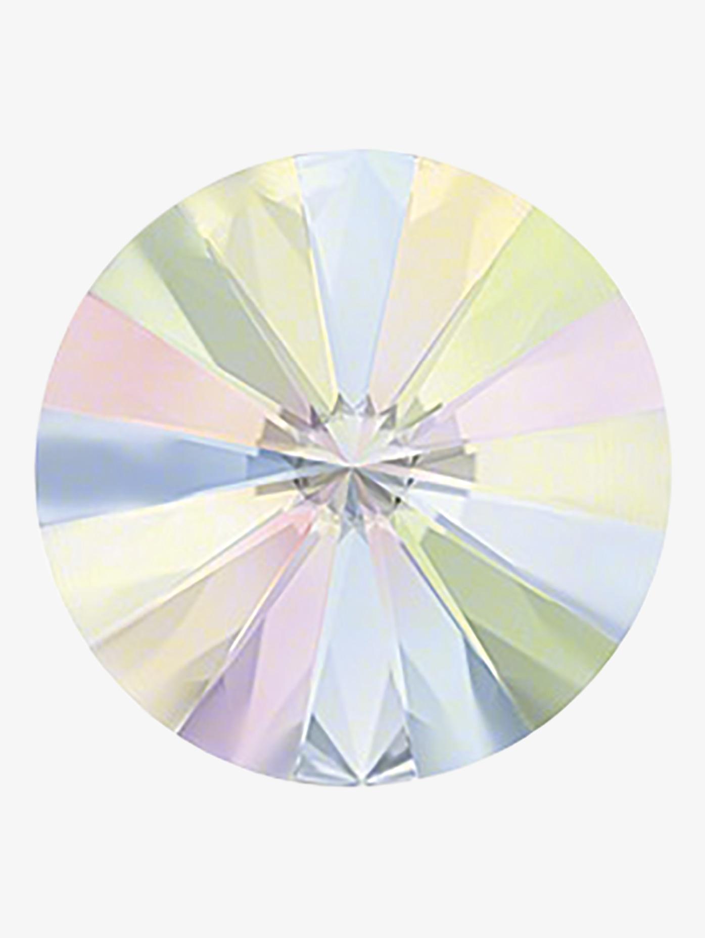 Rhinestones Unlimited Swarovski Crystal AB Jewel Cut Rivoli Flatback RU072