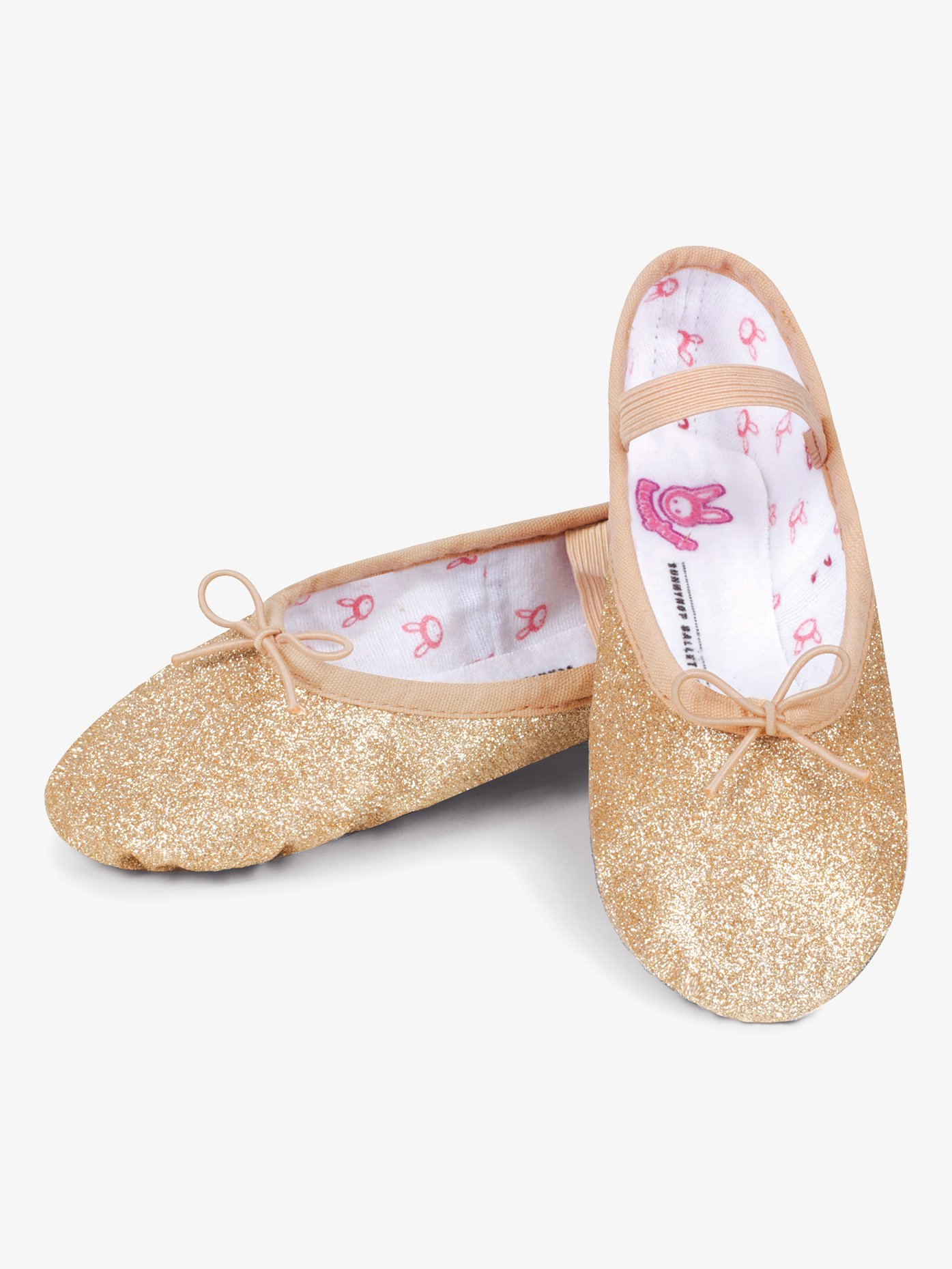 Bloch Child and Toddler Glitterdust Full Sole Ballet Shoes S0225TG