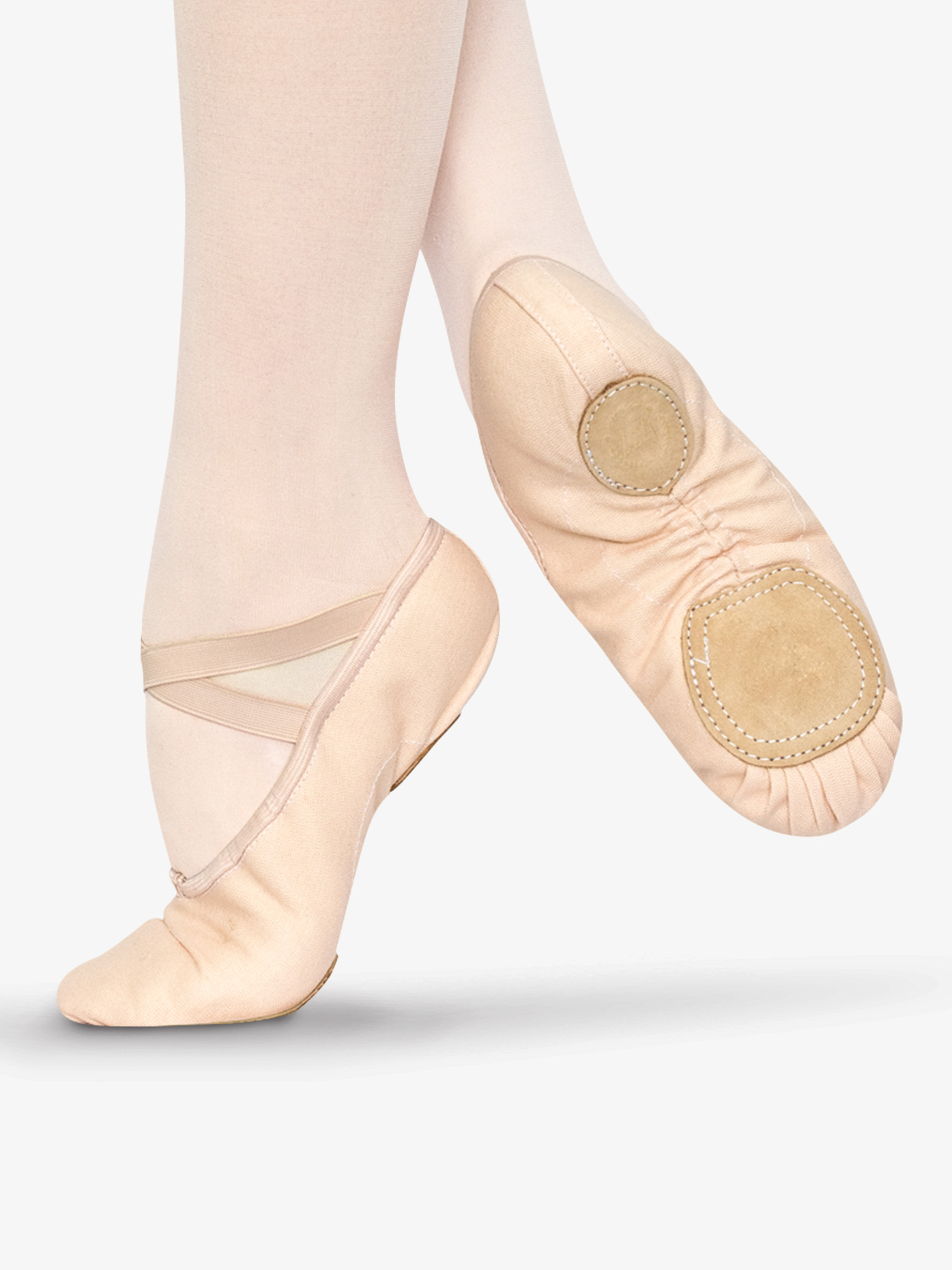 "1737 Adult ""Tempo"" Split Sole Canvas Ballet Slipper $19.95"