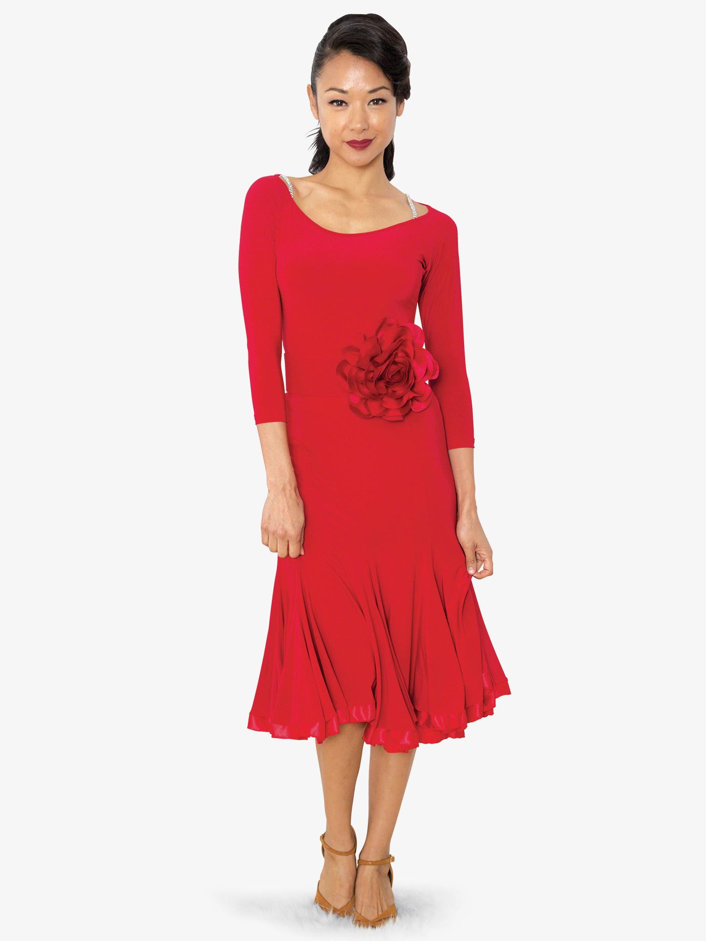 b28ca0bdc36 Womens Mid-Length Banded Ballroom Dance Dance Skirt - Style No S806.  Loading zoom
