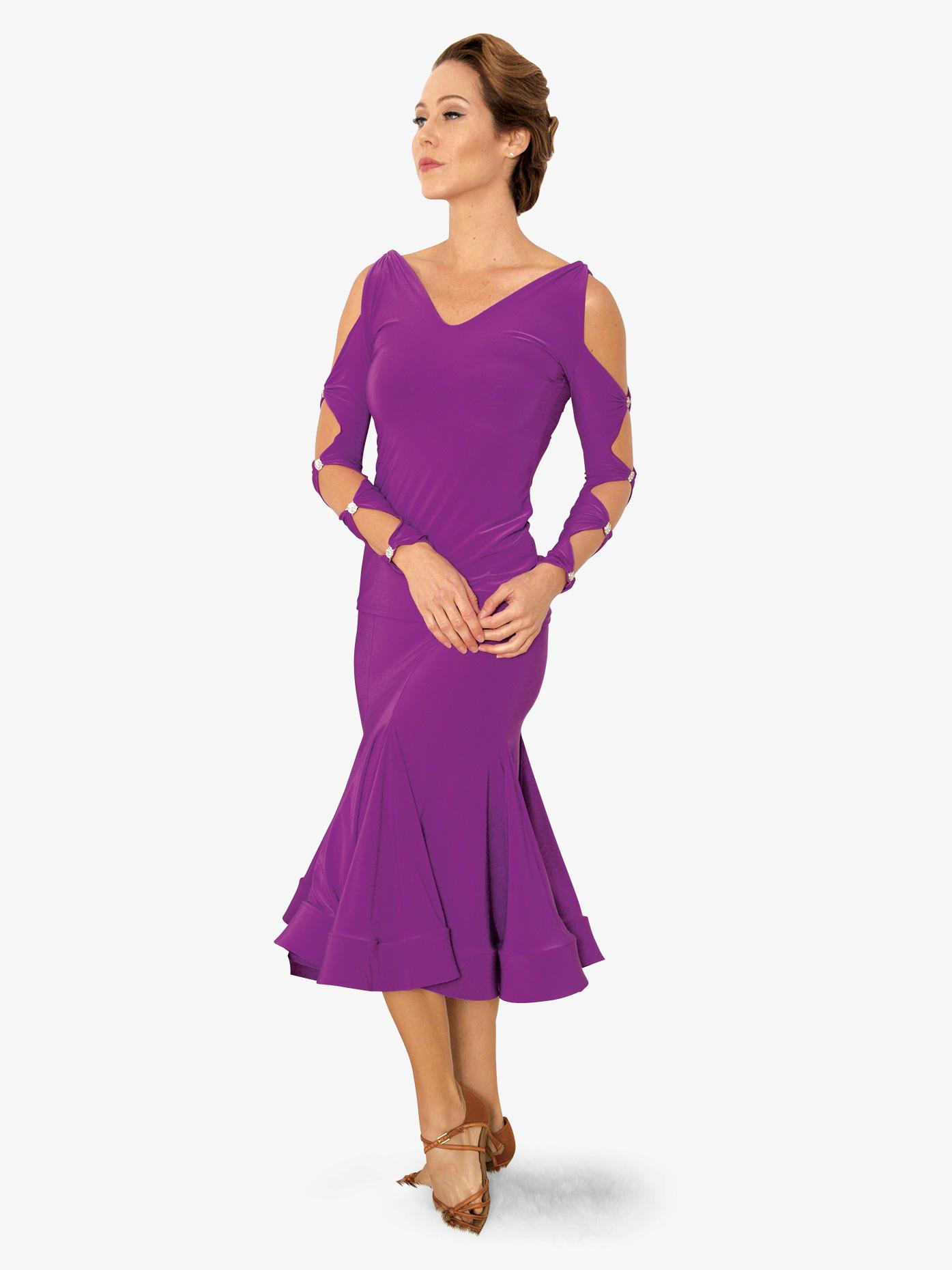 2afe92f2353 Womens Short Trumpet Ballroom Dance Skirt - Style No S822. Loading zoom