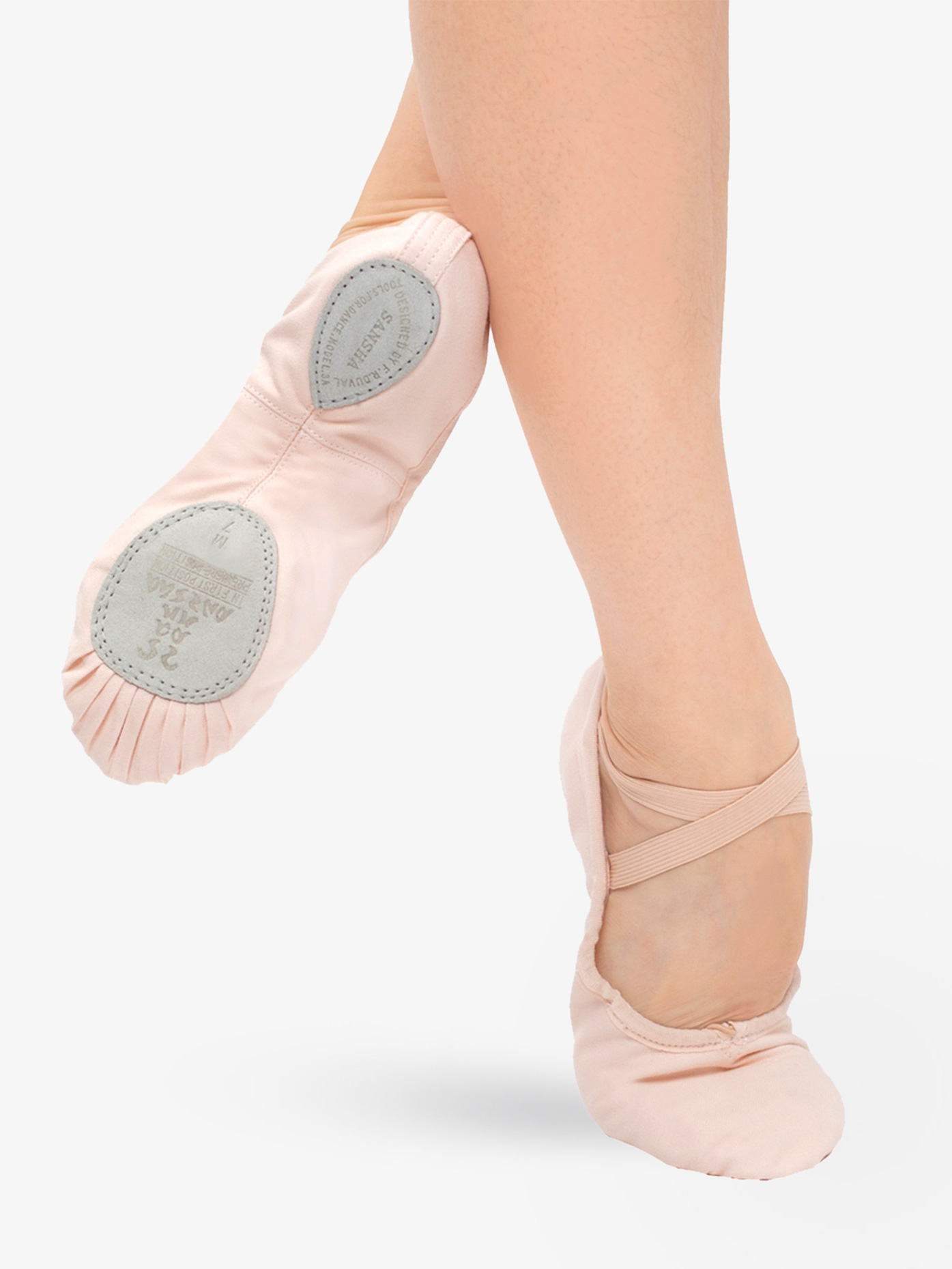 Sansha Adult Entrechat Canvas Split-Sole Ballet Shoes S8C