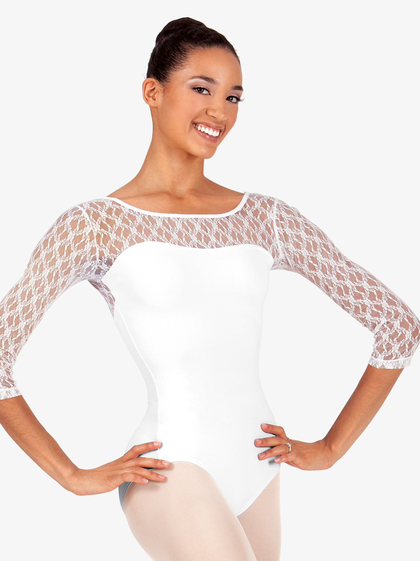 BalTogs Lace 3/4 Sleeve Leotard SIL88386