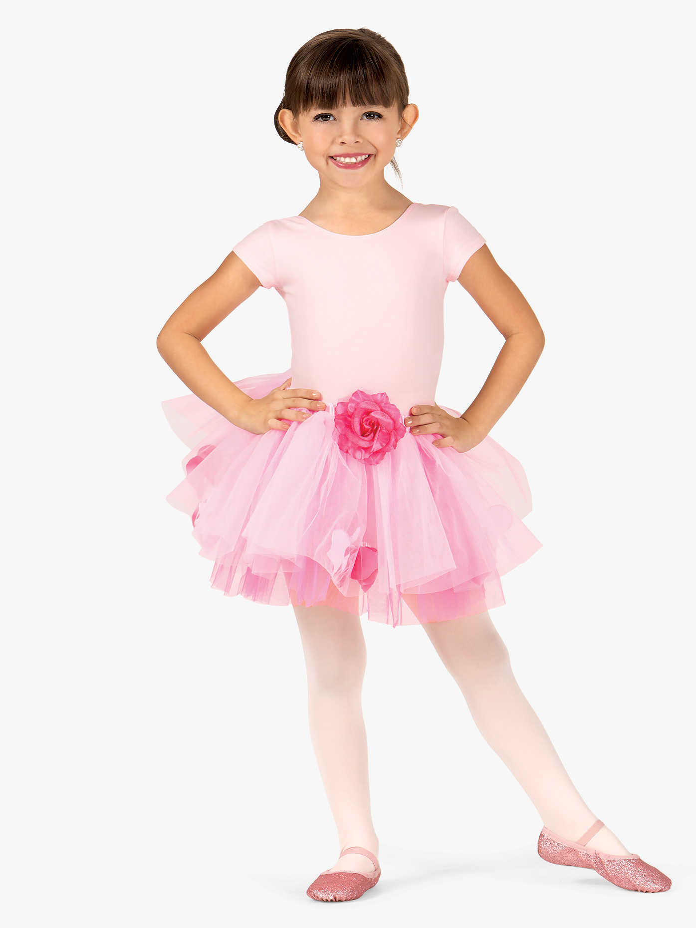 La Petite Ballerina Child Rose Tutu Skirt With Petals SK596