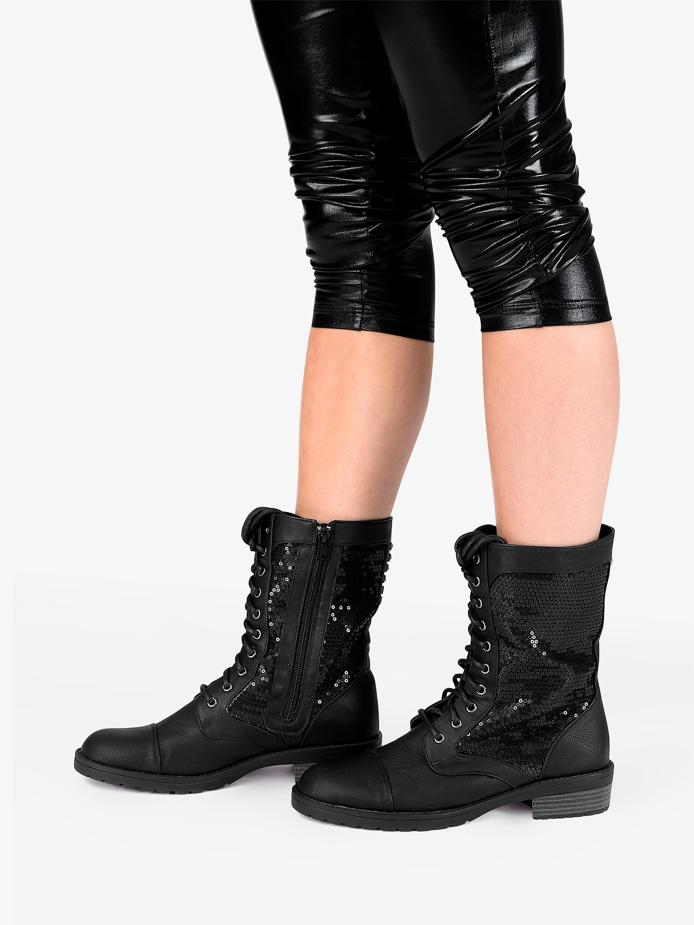 Combat Boot Shoes Double Platinum Swag Discountdance Com