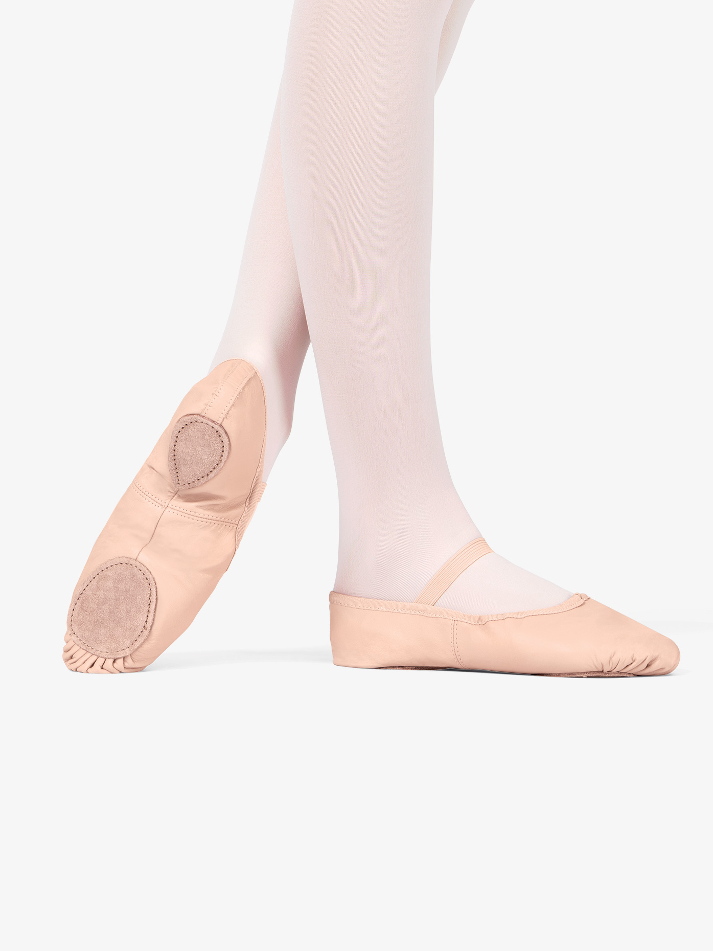 Theatricals Adult Leather Split-Sole Ballet Shoes T2700