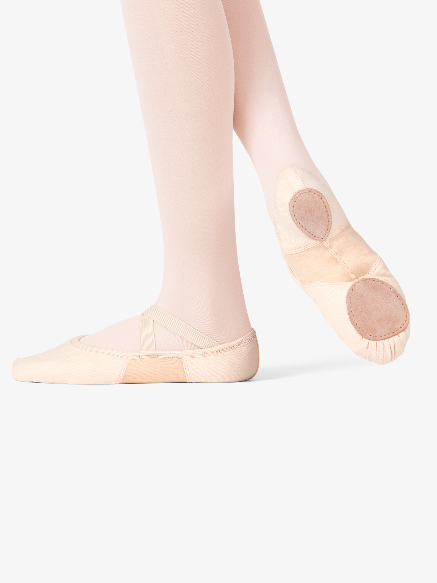 Theatricals Girls SofTouch Canvas Stretch Split-Sole Ballet Shoes T2915C