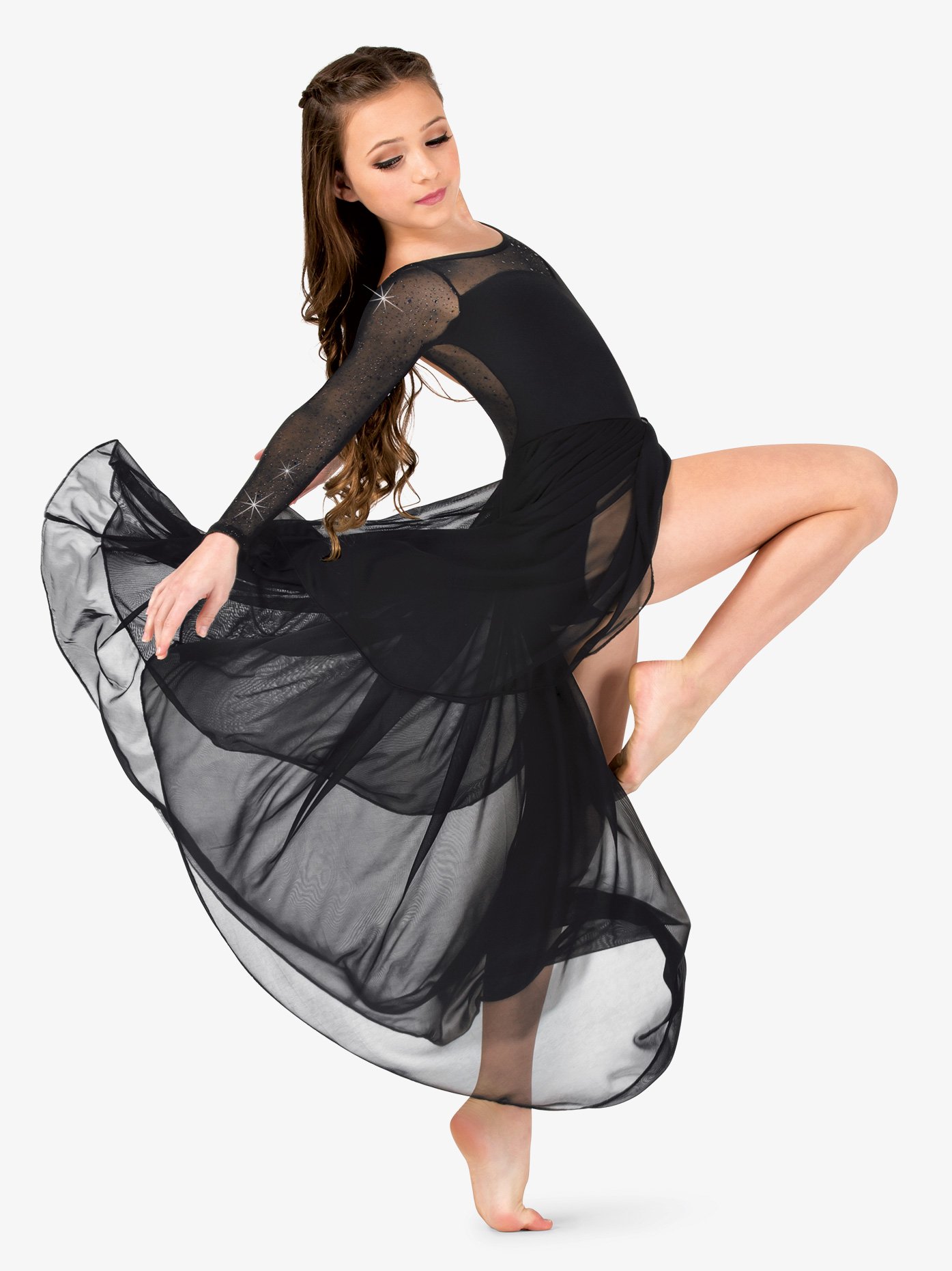 b938eed8f Performance Twinkle Mesh Long Sleeve Dress - Dresses