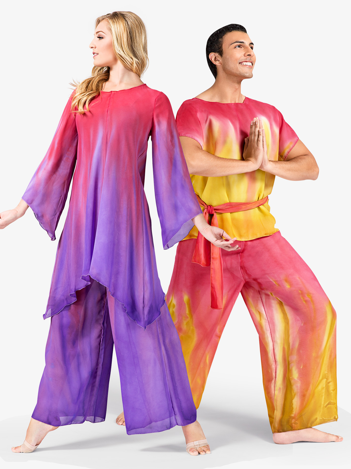 Watercolour Adult Unisex Worship Palazzo Pants WC100