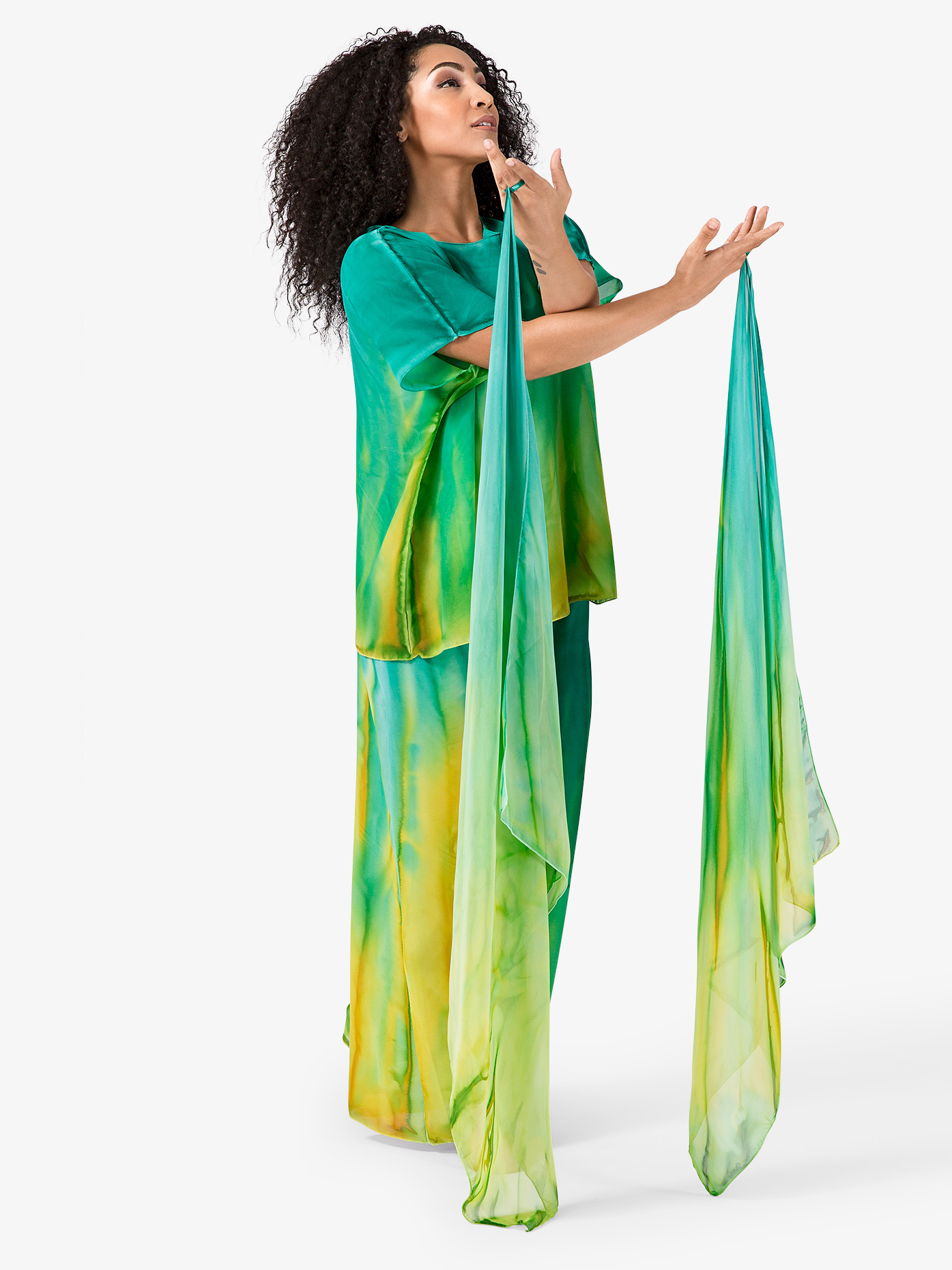 Watercolour Worship Finger Drape with Elastic Loop WC108