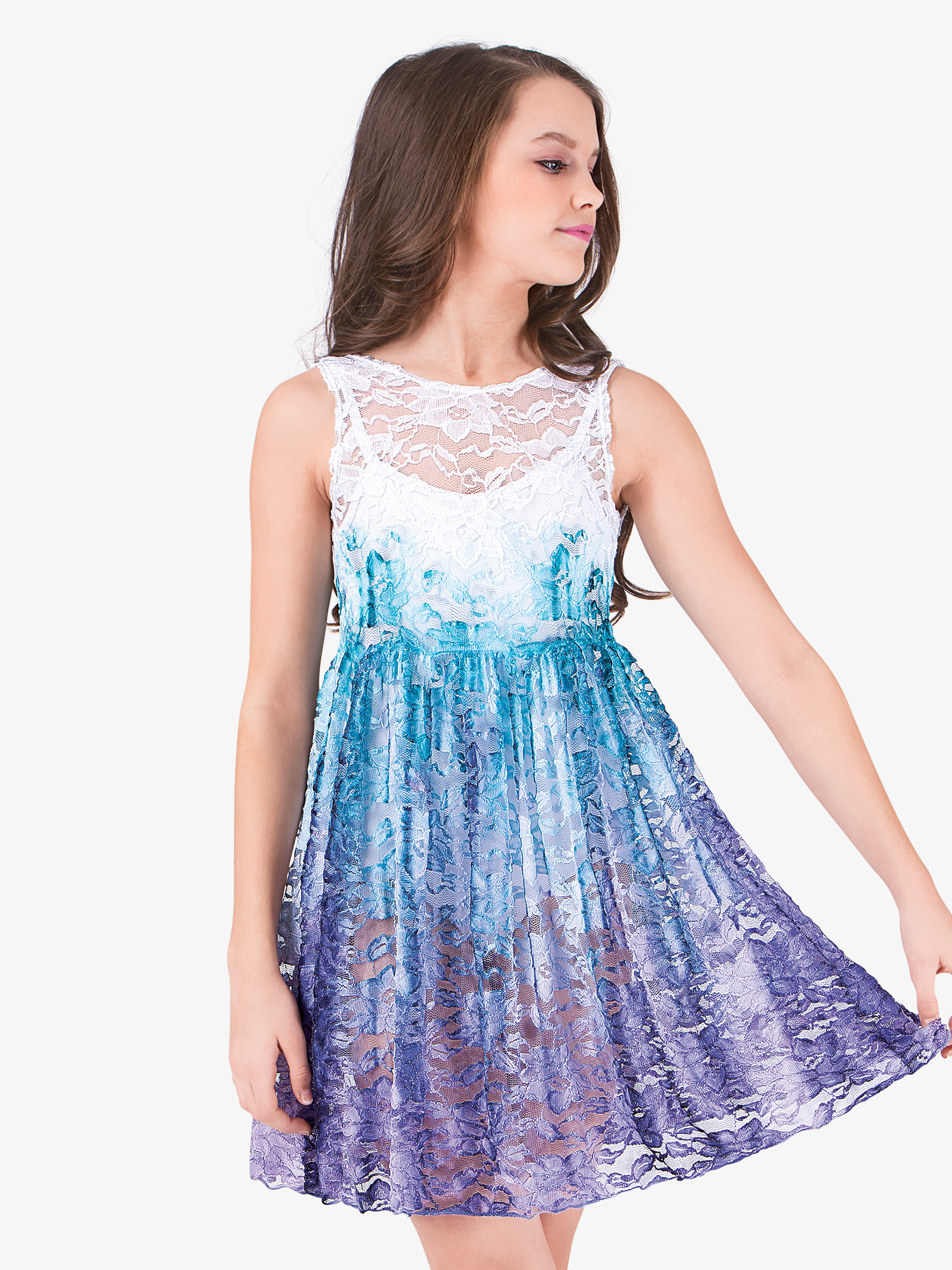 Watercolour Girls Lace Tank Overdress WC203C