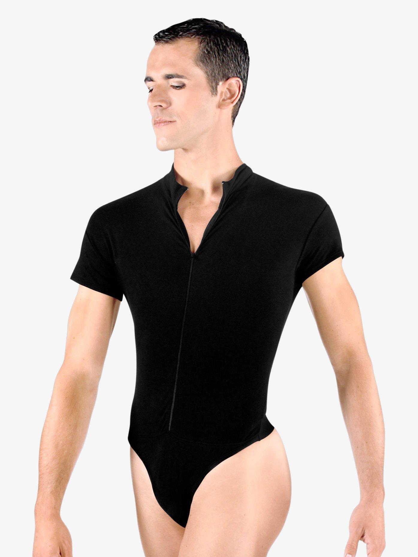Wear Moi Mens Condor Zip Front Leotard with Built-In Dance Belt WM122