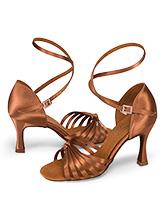 83c270deb2d Womens Strappy Satin Ballroom Dance Shoes - Style No DA1066
