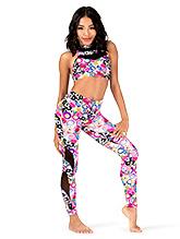 ac831fcc1 Floral Stripe Dance Leggings - Pants   Leggings
