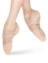 "Bloch Adult ""Elastosplit X"" Canvas Split-Sole Ballet Shoes $20.80"