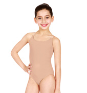 Child Camisole Leotard with See-Through Straps