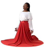 Girls Double Layer Worship Circle Skirt