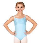 Child/Teen Diane Metallic Lace Camisole Leotard