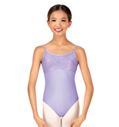 Child/Teen Diane Metallic Lace Camisole Leotard