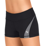 Womens Colorblock Running Shorts