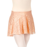 Child Metallic Lace Wrap Skirt