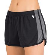 Womens Contrasting Running Shorts