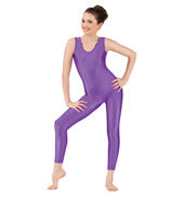 Girls Scoop Neck Nylon Tank Unitard