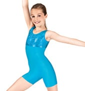 Girls Gymnastics Two-Tone Tank Biketard