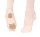 Girls Hanami Canvas Split Sole Ballet Slipper